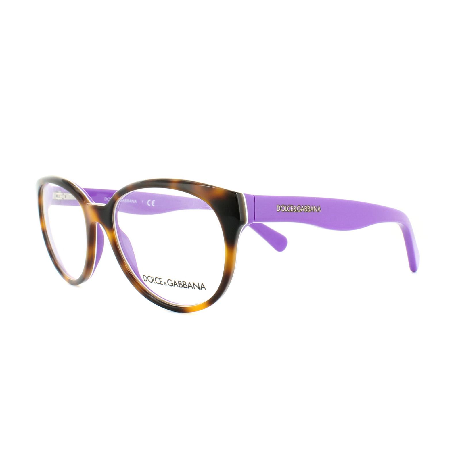 d2a218319df6 Sentinel Dolce and Gabbana Glasses Frames DG 3146P 2608 Top Havana Violet  Womens 52mm