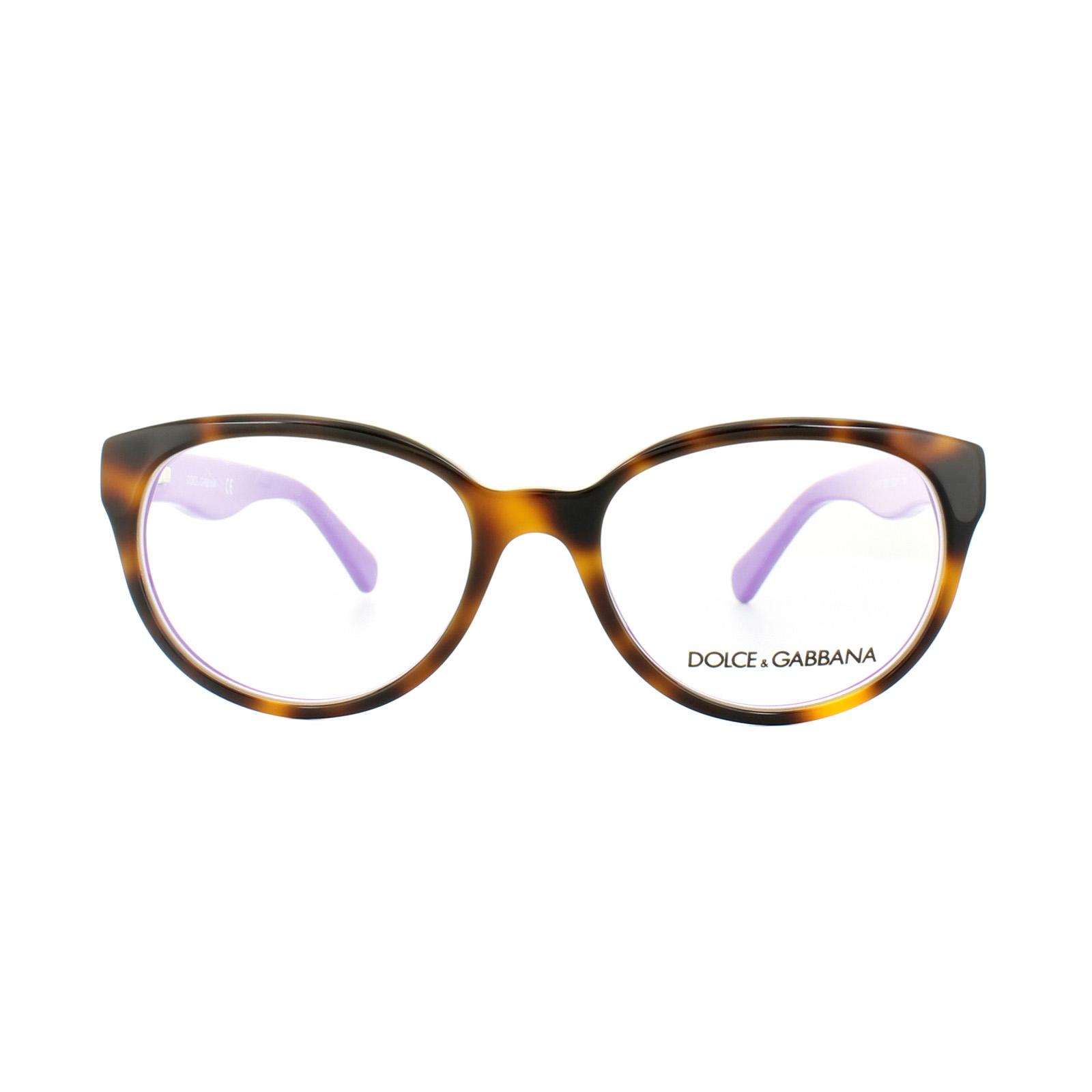 ed5af7ccd1a3 Sentinel Dolce and Gabbana Glasses Frames DG 3146P 2608 Top Havana Violet  Womens 52mm