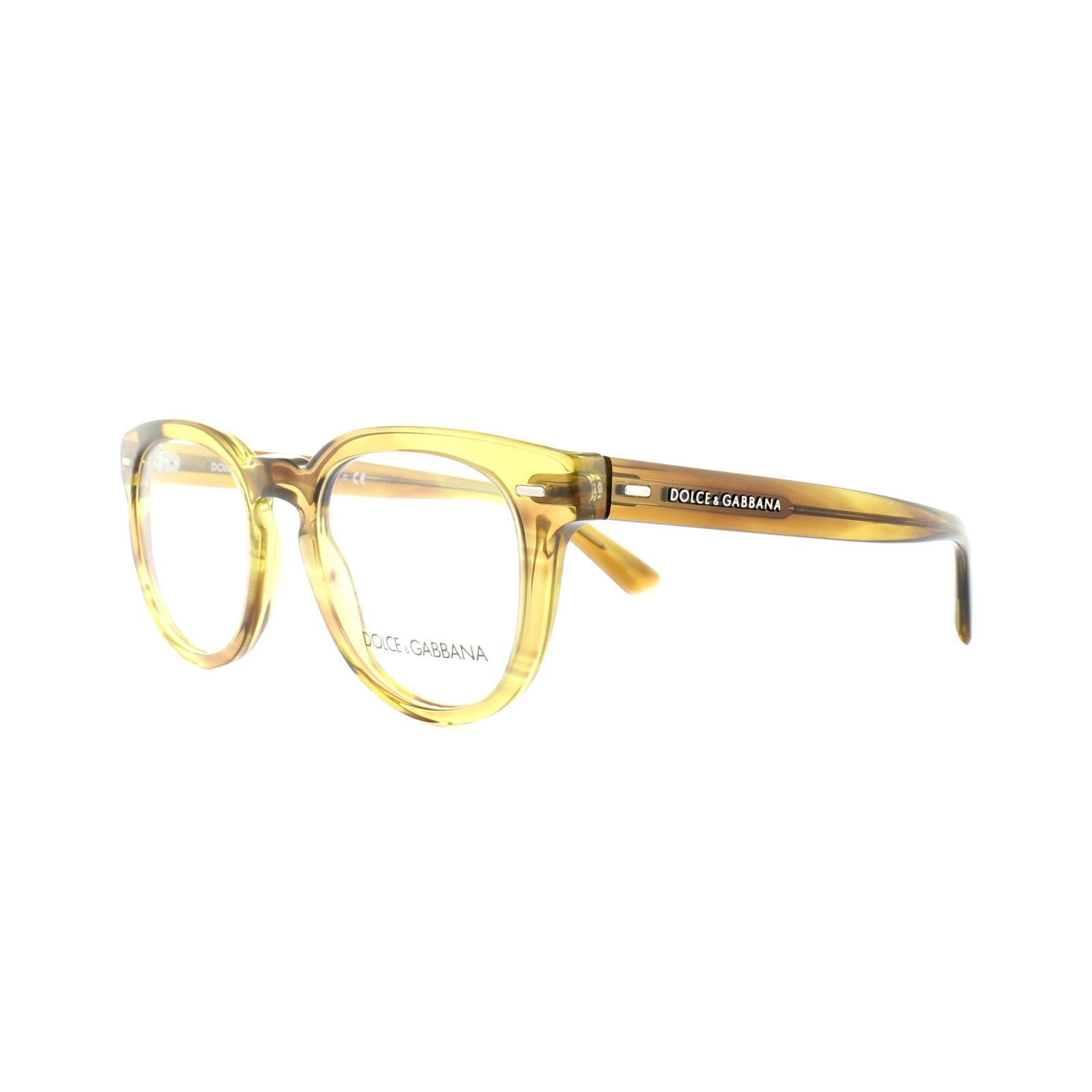 Dolce and Gabbana Glasses Frames DG 3225 2927 Striped Honey Mens ...
