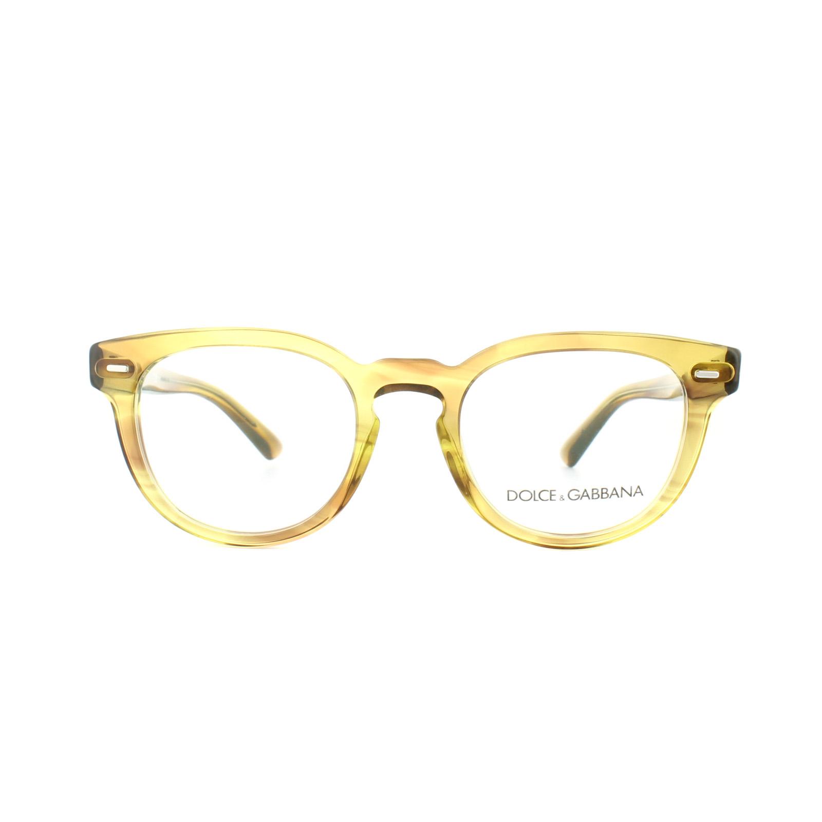 06f81ad586d2 Sentinel Dolce and Gabbana Glasses Frames DG 3225 2927 Striped Honey Mens  48mm