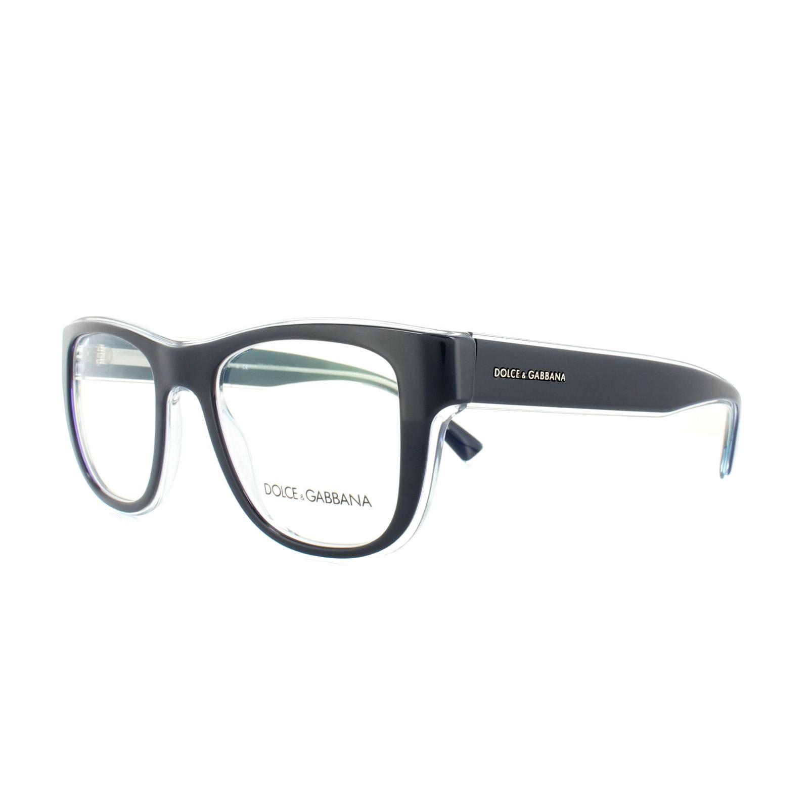 f315c33f11bb Sentinel Dolce and Gabbana Glasses Frames DG3252 3048 Blue On Transparent  Azure Mens 51mm