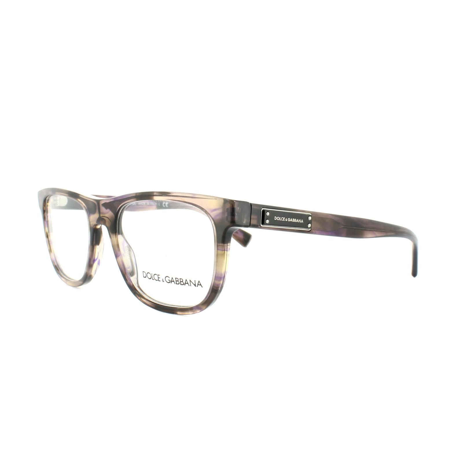 14477886b6f4 Sentinel Dolce and Gabbana Glasses Frames DG 3257 3064 Striped Violet Mens  52mm