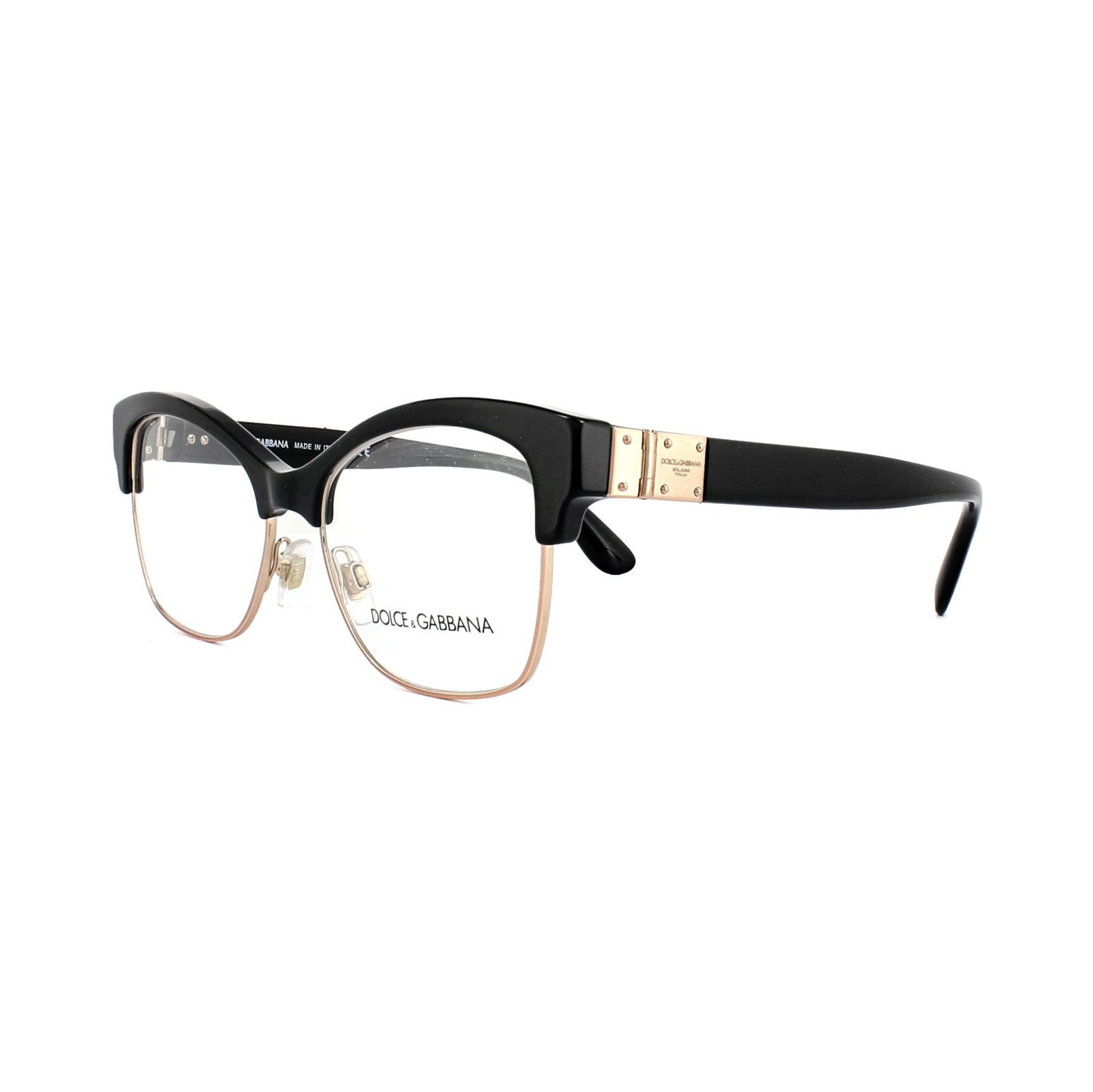 ae76999ab1e Sentinel Dolce and Gabbana Glasses Frames DG 3272 501 Black Womens 52mm