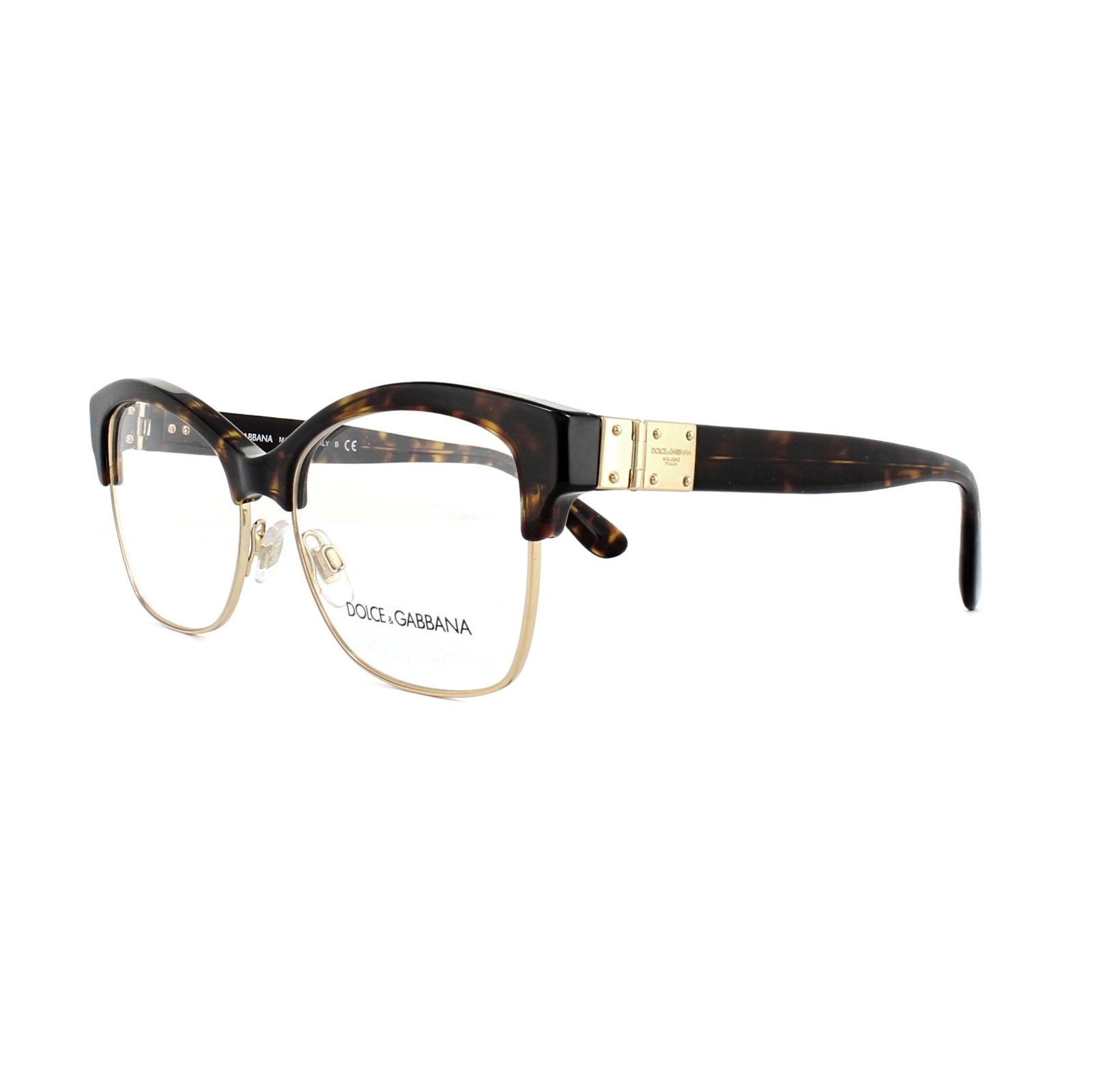 Dolce and Gabbana Glasses Frames DG 3272 502 Havana Womens 54mm ...