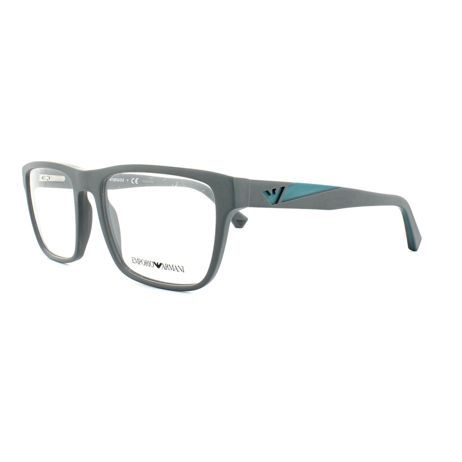 89912bcb Details about Emporio Armani Glasses Frames EA 3080 5502 Matte Grey Mens  55mm