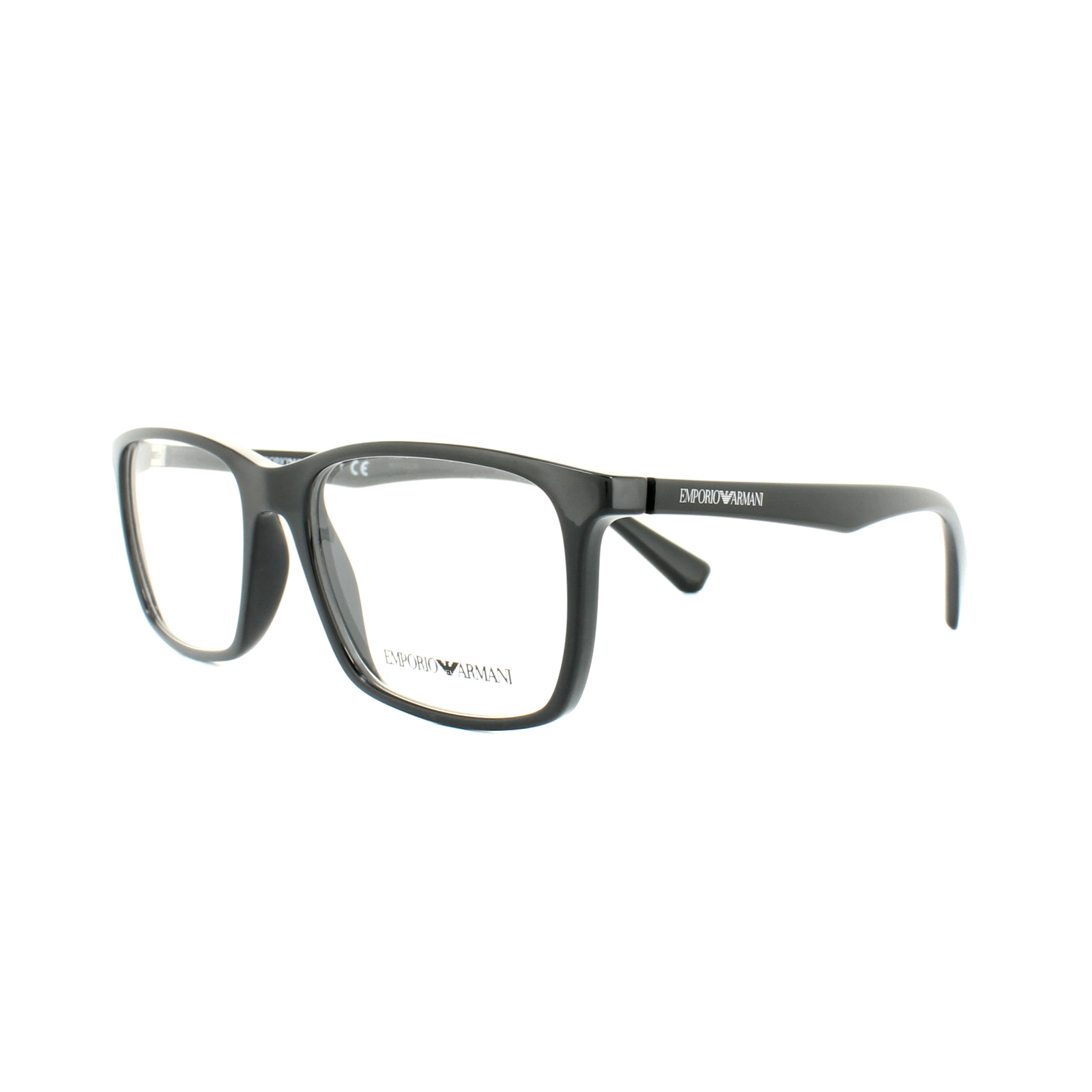 Emporio Armani Glasses Frames EA 3116 5017 Black Mens 53mm ...