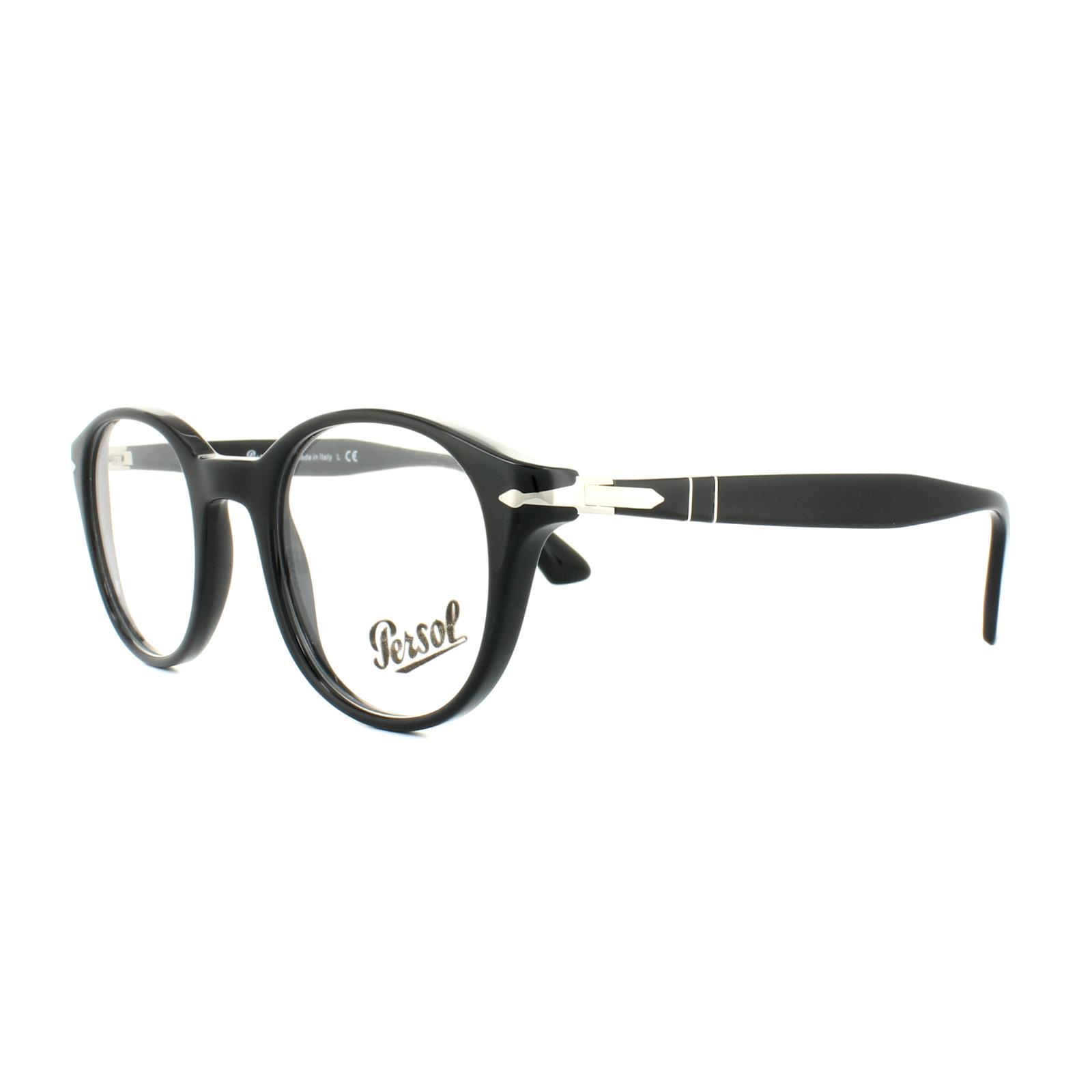 Persol Glasses Frames PO 3144V 95 Black Mens 47mm 8053672593945 | eBay