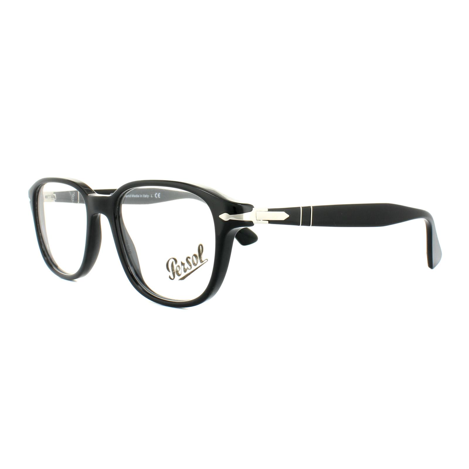 7c0fa63fac Persol Glasses Frames PO 3145V 95 Black Mens 51mm 8053672594065