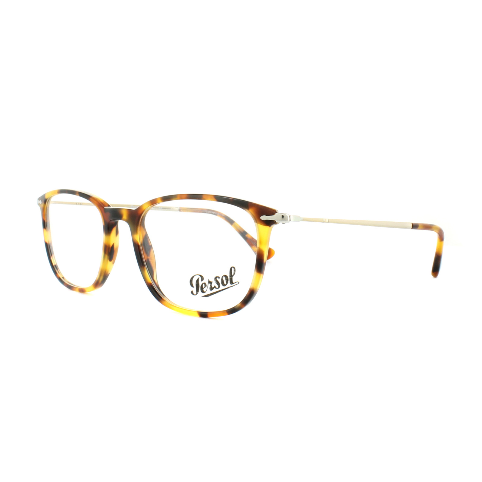 c7c3d9cf517bf Sentinel Persol Glasses Frames PO 3146V 1052 Brown Beige Tortoise Mens 51mm