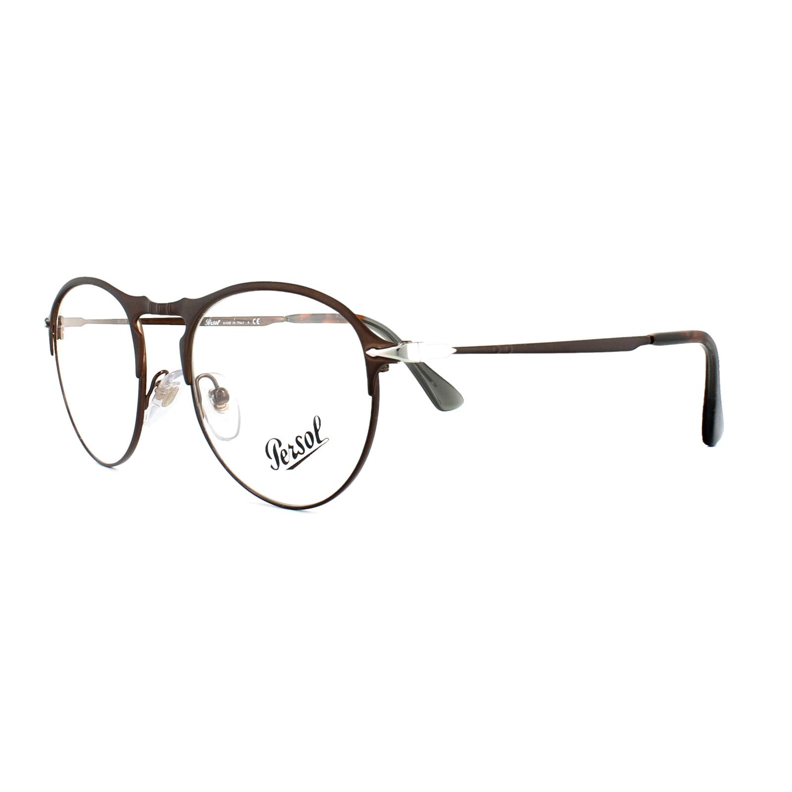 Persol Glasses Frames PO 7092V 1072 Matt Brown Mens 48mm ...