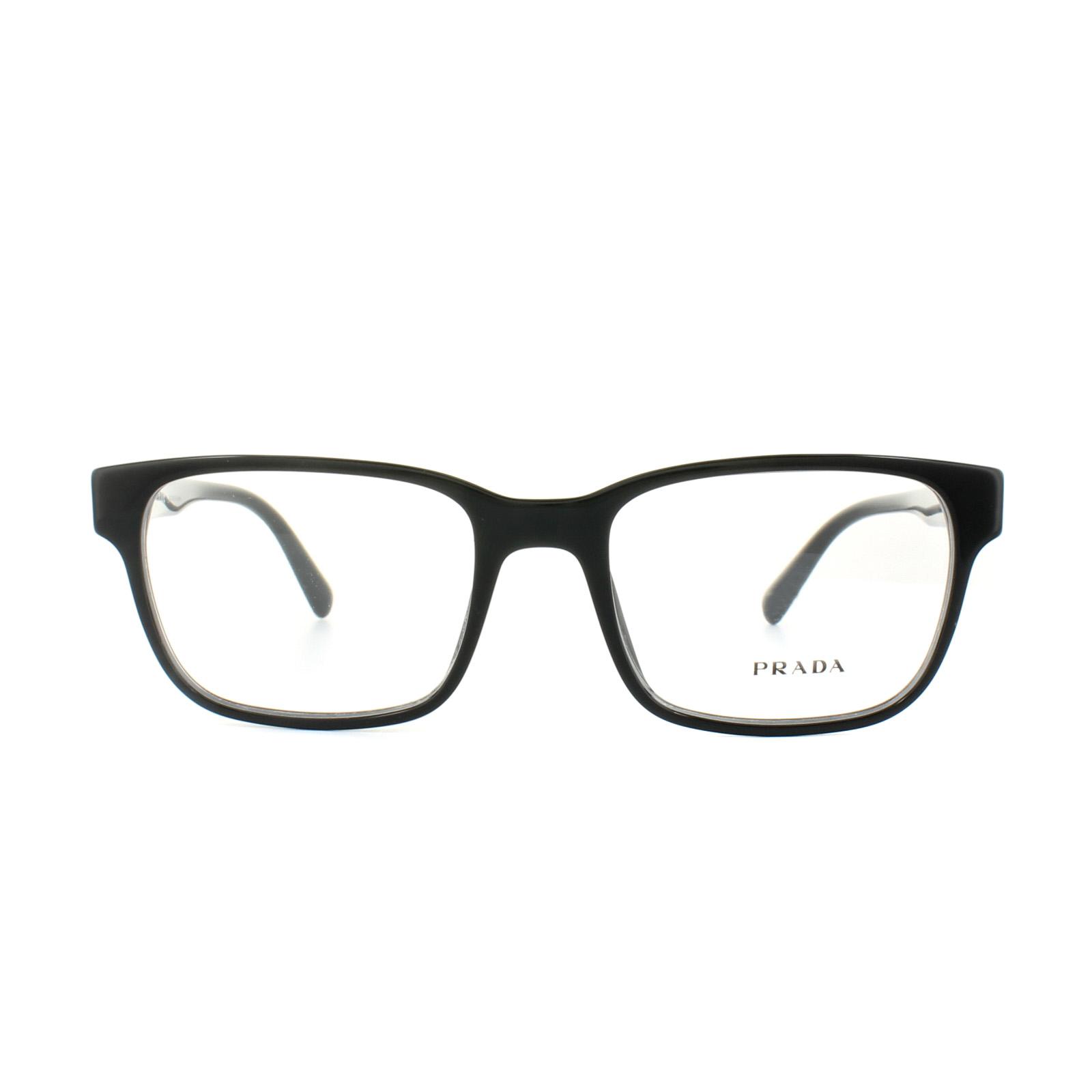 Sentinel Prada Glasses Frames PR 06UV 1AB1O1 Black Mens 54mm