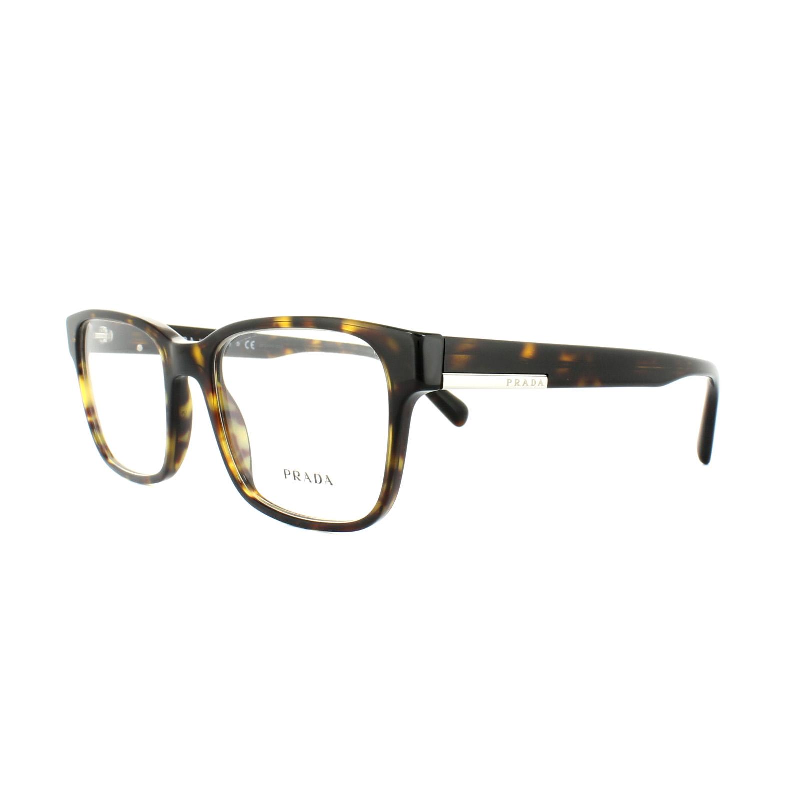 8d79bc177a Prada Glasses Frames PR 06UV 2AU1O1 Havana Mens 52mm 8053672781083 ...