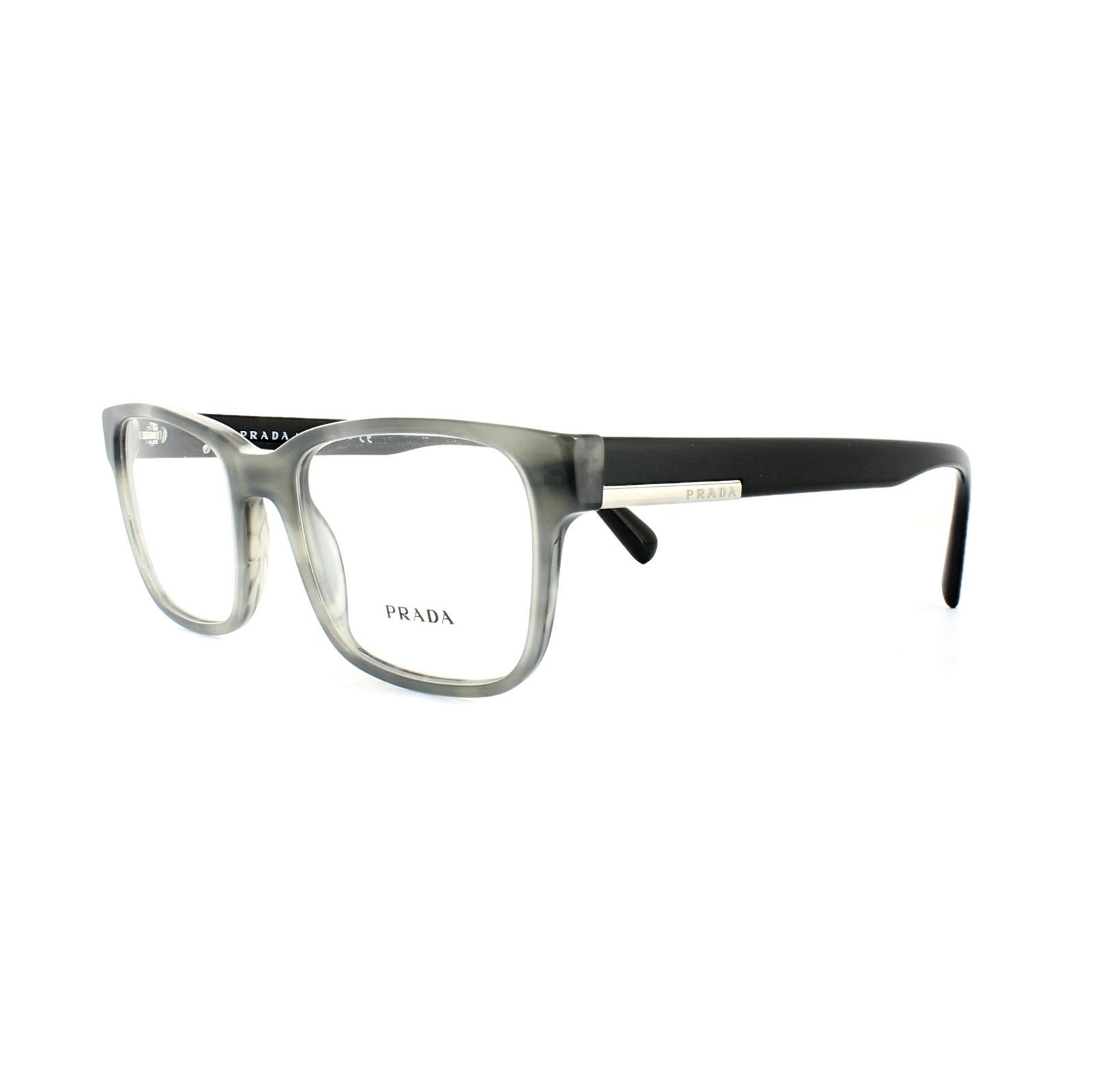 Prada Glasses Frames PR 06UV VYR1O1 Striped Black Mens 52mm ...