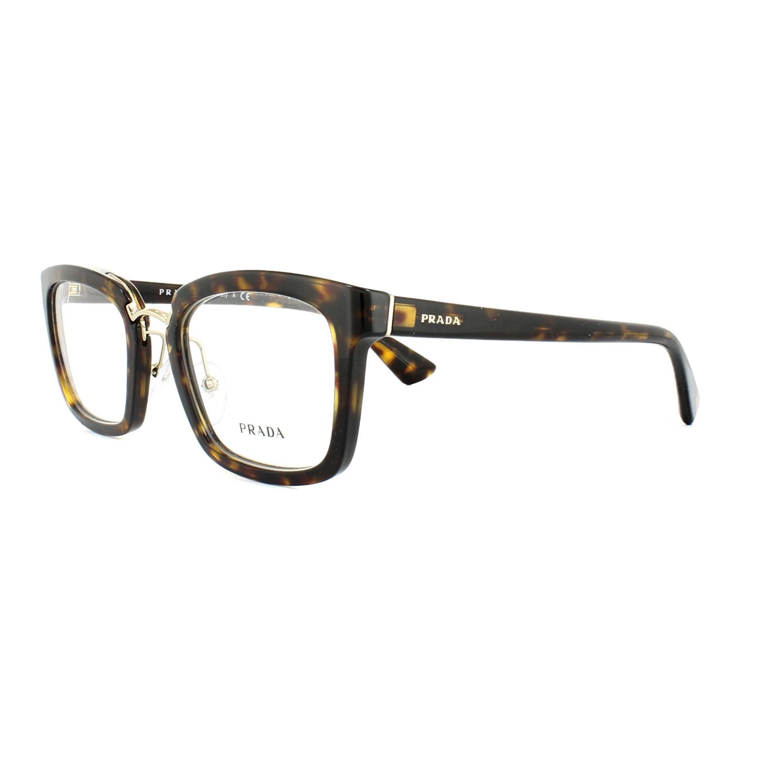 9cbae97bafc Sentinel Prada Glasses Frames PR 09SV 2AU1O1 Havana Womens 51mm