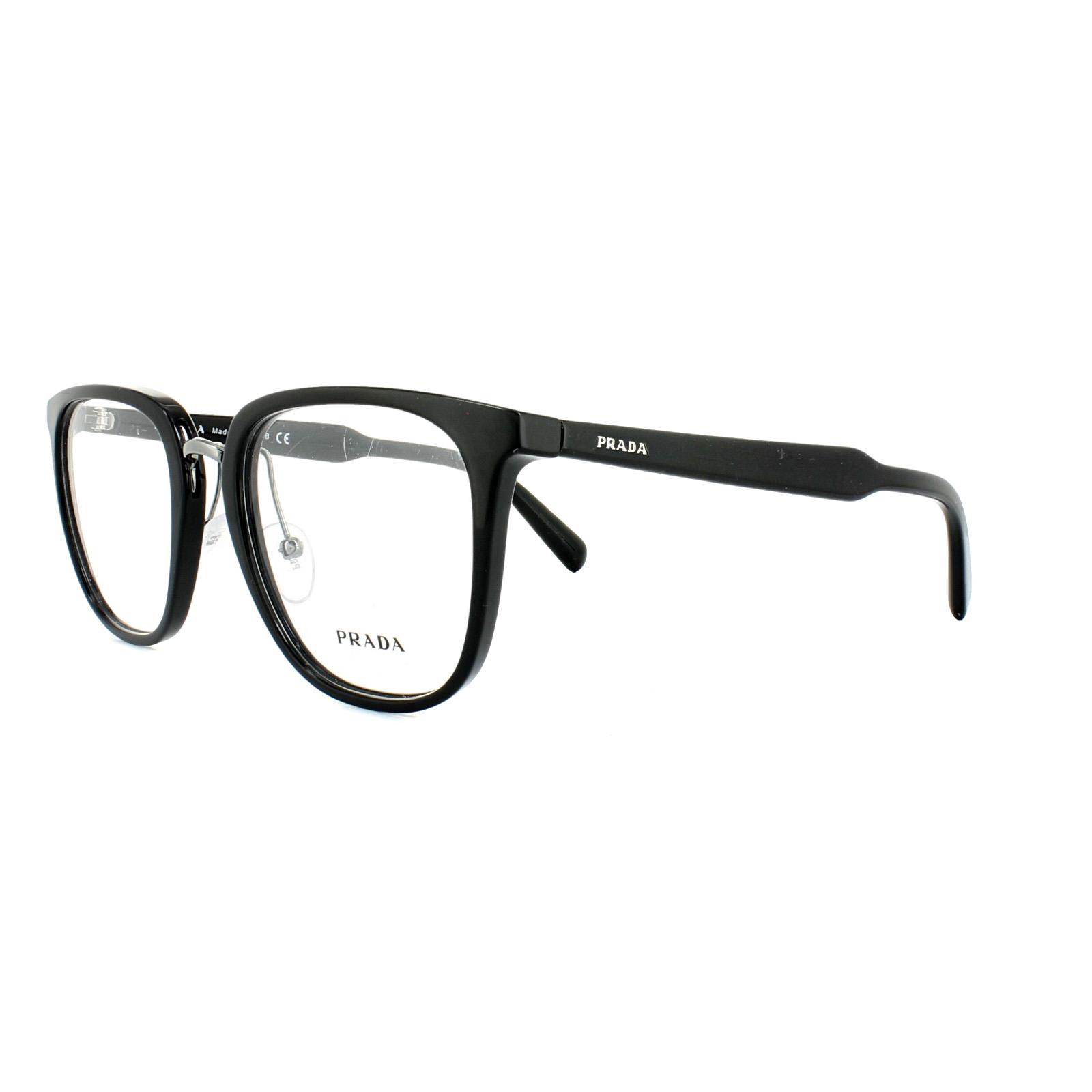 a25c6a0704a Prada Glasses Frames PR 10TV 1AB1O1 Black Mens 51mm 8053672621235