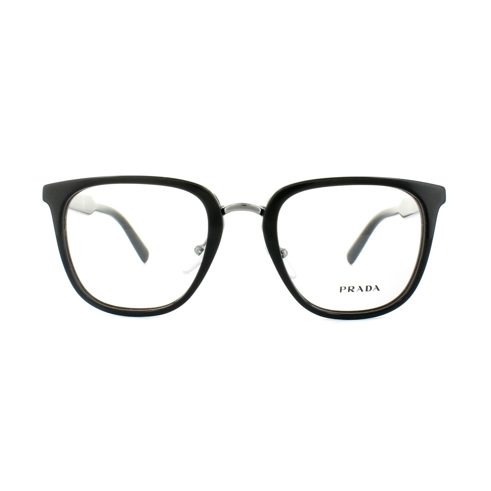 Sentinel Prada Glasses Frames PR 10TV 1AB1O1 Black Mens 51mm