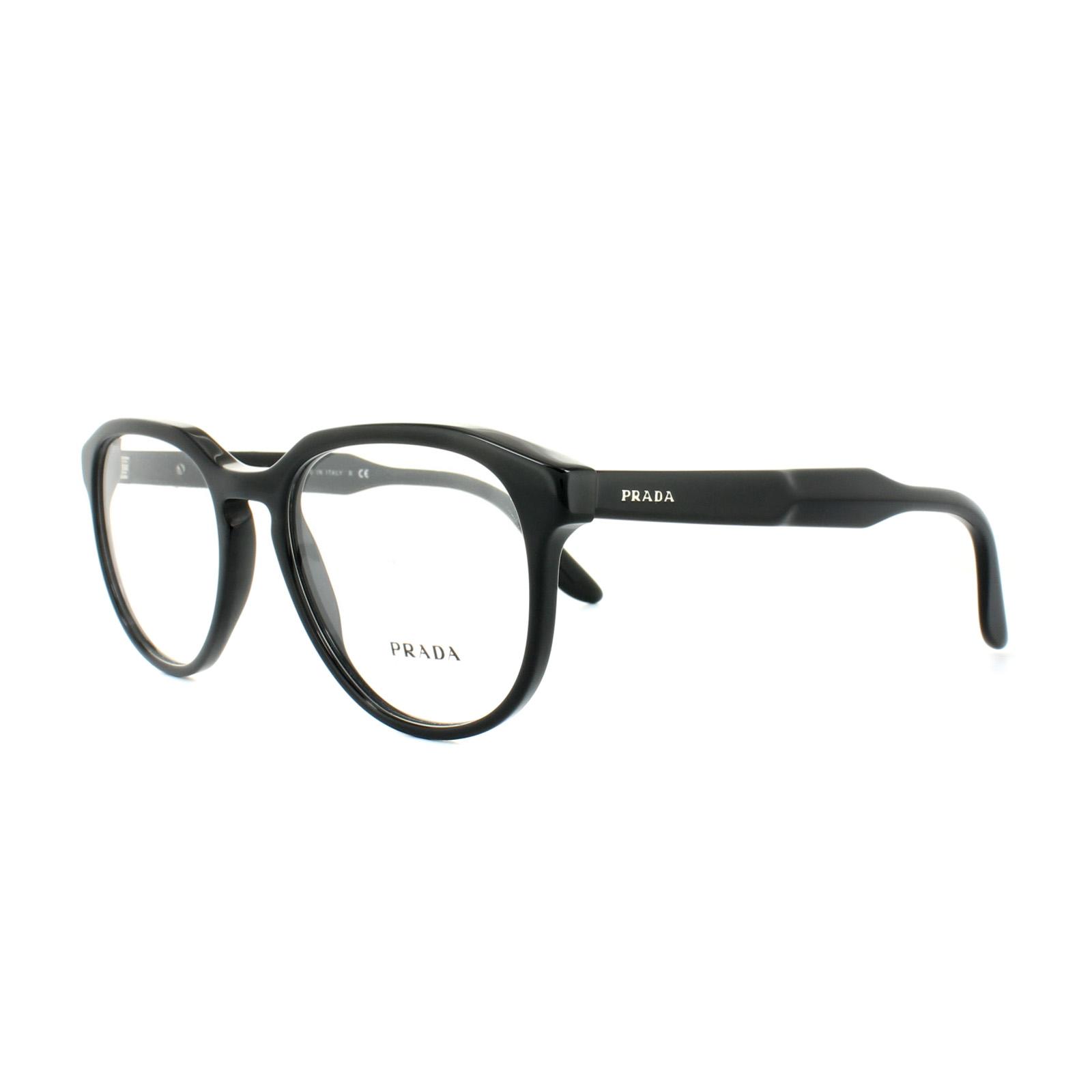 Prada Glasses Frames PR 18SV 1AB1O1 Black Mens 53mm 8053672495263 | eBay
