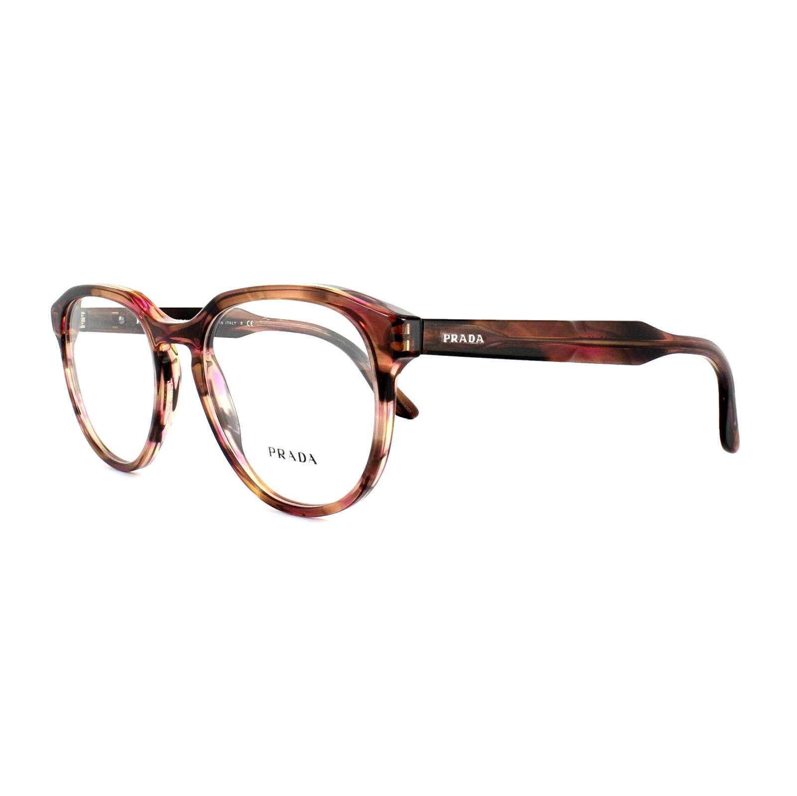 d81d649121a0 Sentinel Prada Glasses Frames PR 18SV UEO1O1 Striped Brown Mens 53mm