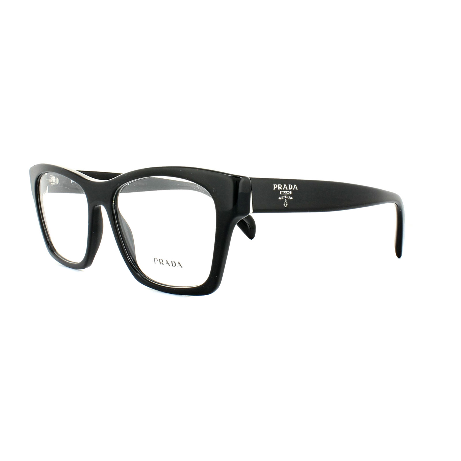 93d47ea135 Prada Glasses Frames PR 22SV 1AB1O1 Black Womens 54mm 8053672507041 ...
