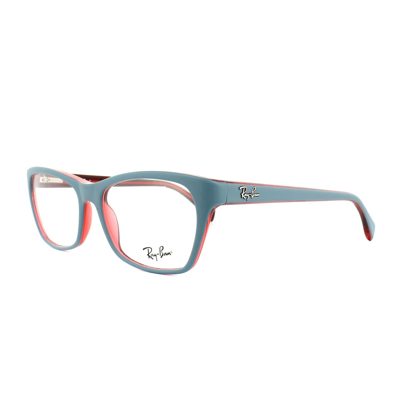 d188033d60 ... reduced sentinel ray ban glasses frames rx 5298 5388 matt oil blue on  transparent red womens