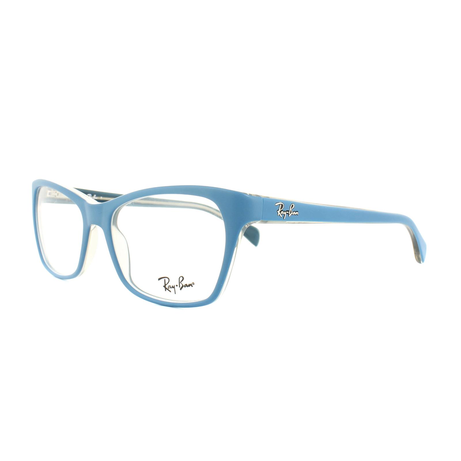 0b702858d9 Details about Ray-Ban Glasses Frames RX 5298 5391 Matt Blue on Transparent  Beige Womens 53mm