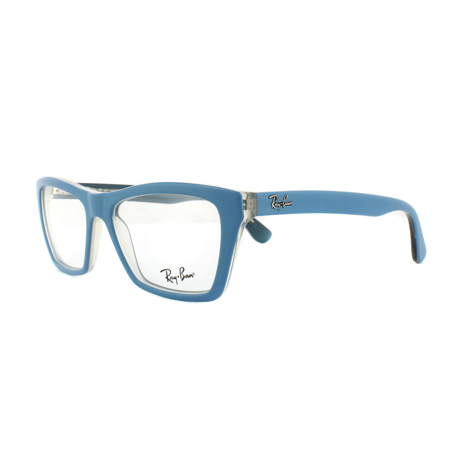 Ray-Ban Glasses Frames RX 5316 5391 Matt Blue on Transparent Beige ...