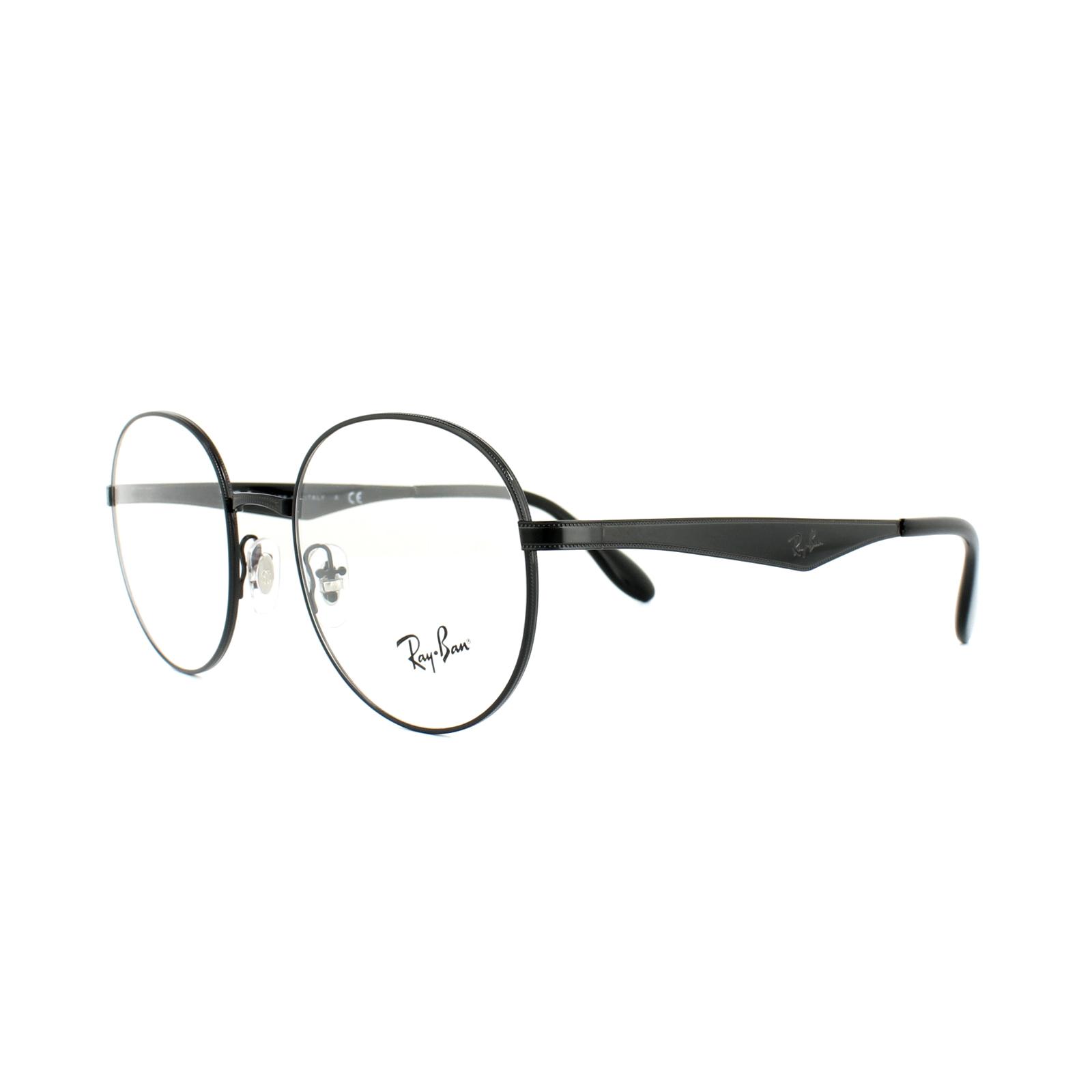 0aac8959e587 Sentinel Ray-Ban Glasses Frames RX 6343 2509 Shiny Black Mens 50mm