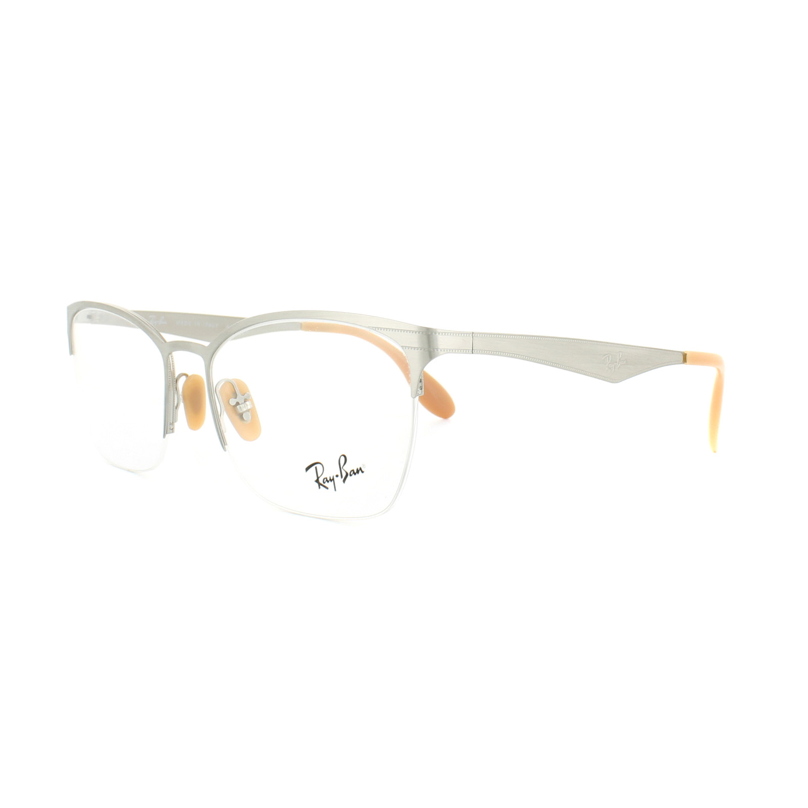 dc9aa8f154fcb Sentinel Ray-Ban Glasses Frames RX 6345 2595 Silver Brushed Womens 52mm
