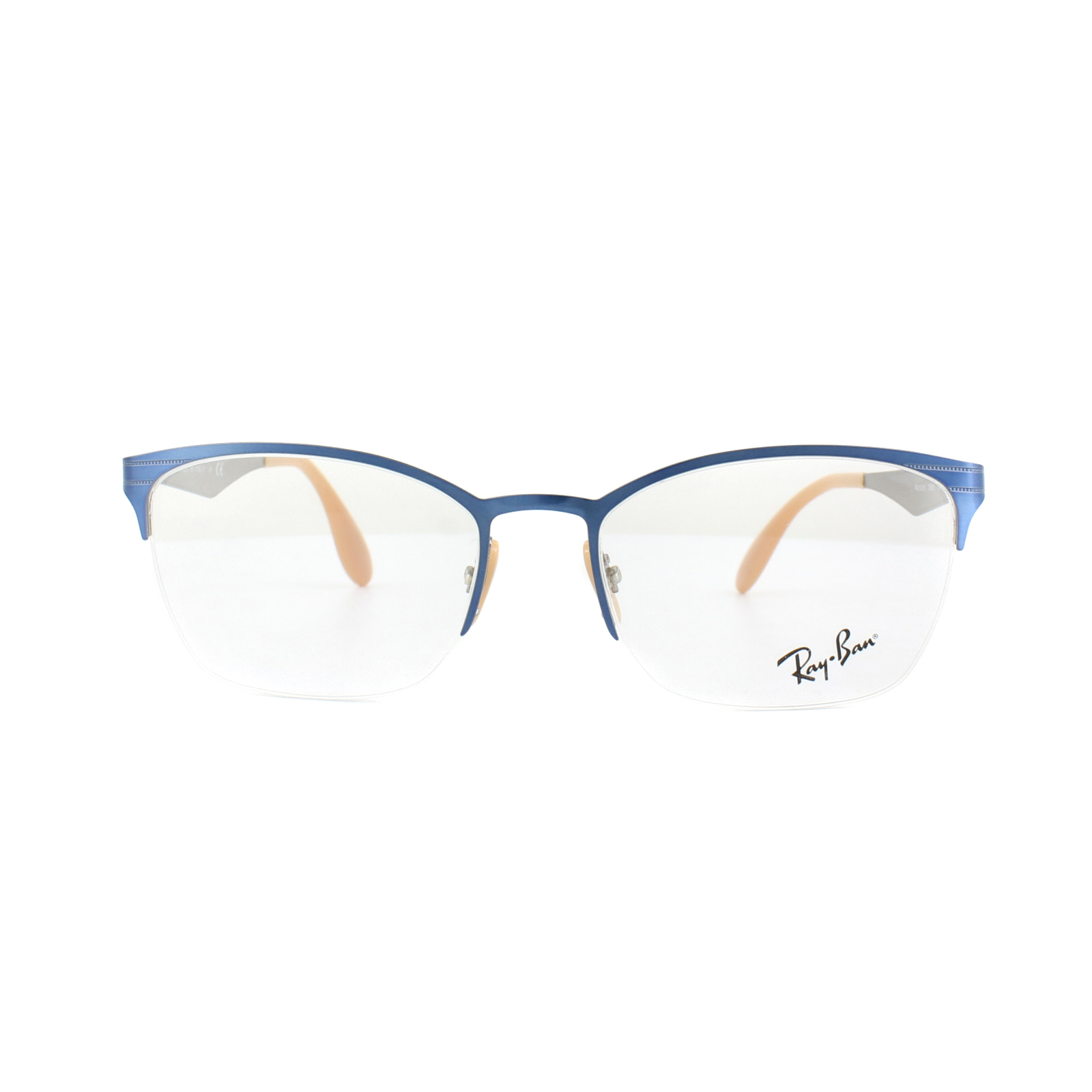 1a6c9b0f4e Sentinel Ray-Ban Glasses Frames RX 6345 2865 Top Brushed Light Blue On Grey  Womens 54mm