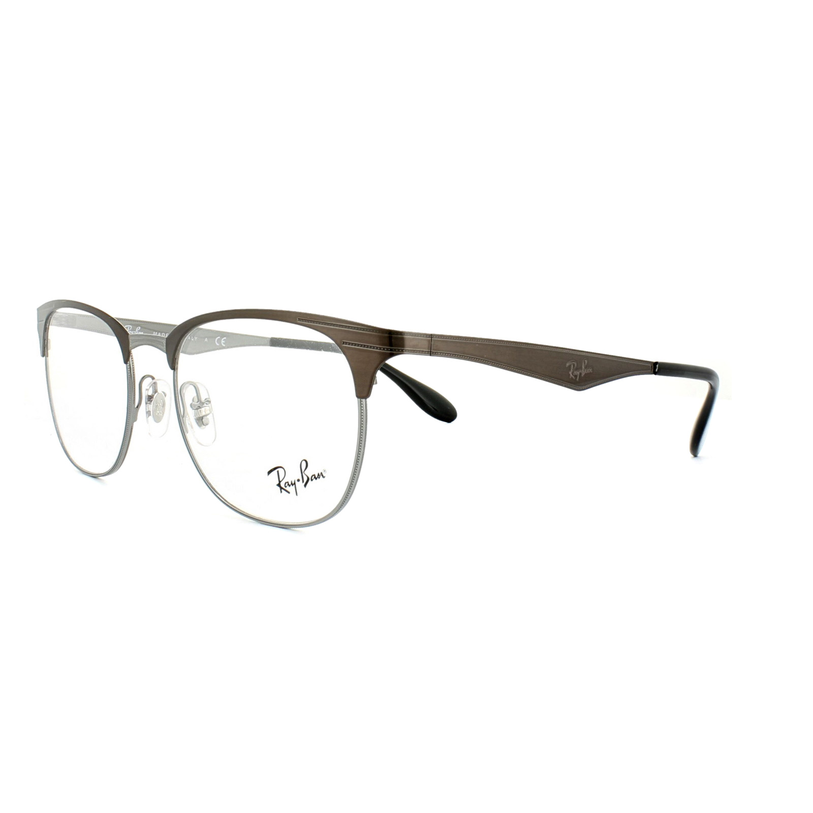 Ray-Ban Glasses Frames RX 6346 2862 Top Brushed Dark Brown On ...