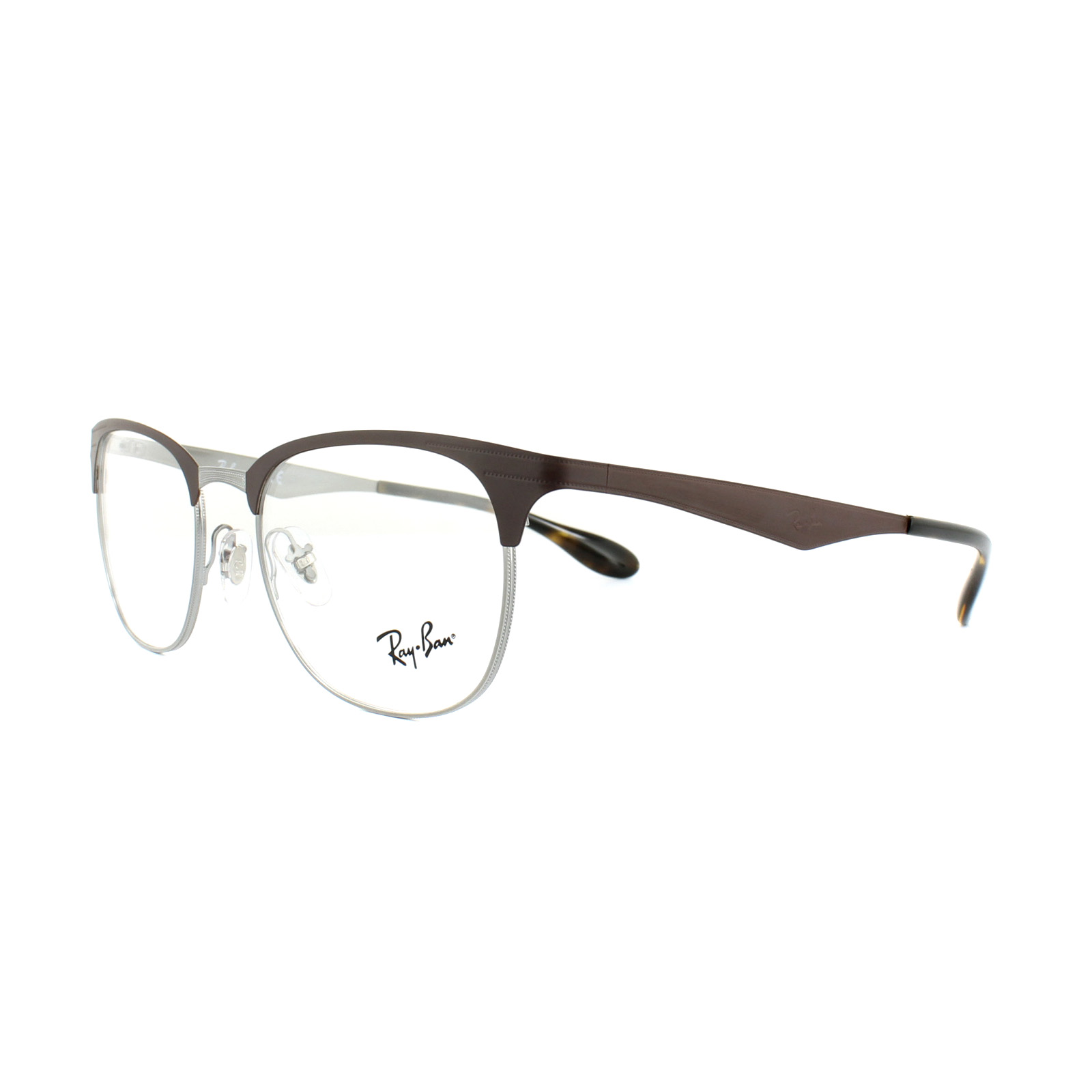 8422a4829f Sentinel Ray-Ban Glasses Frames RX 6346 2912 Gunmetal Matte Brown Mens  Womens 52mm