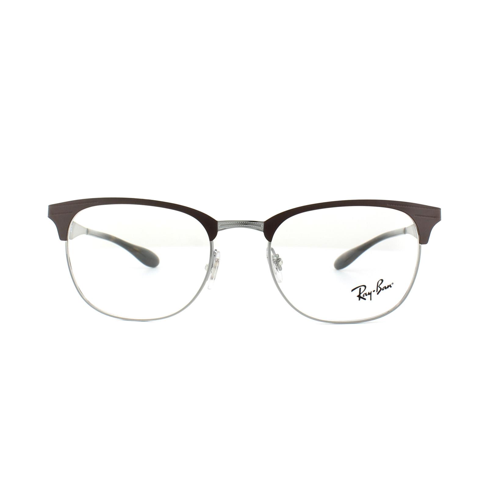 ea924296fa7 ... cheap sentinel ray ban glasses frames rx 6346 2912 gunmetal matte brown  mens womens 52mm 05b16