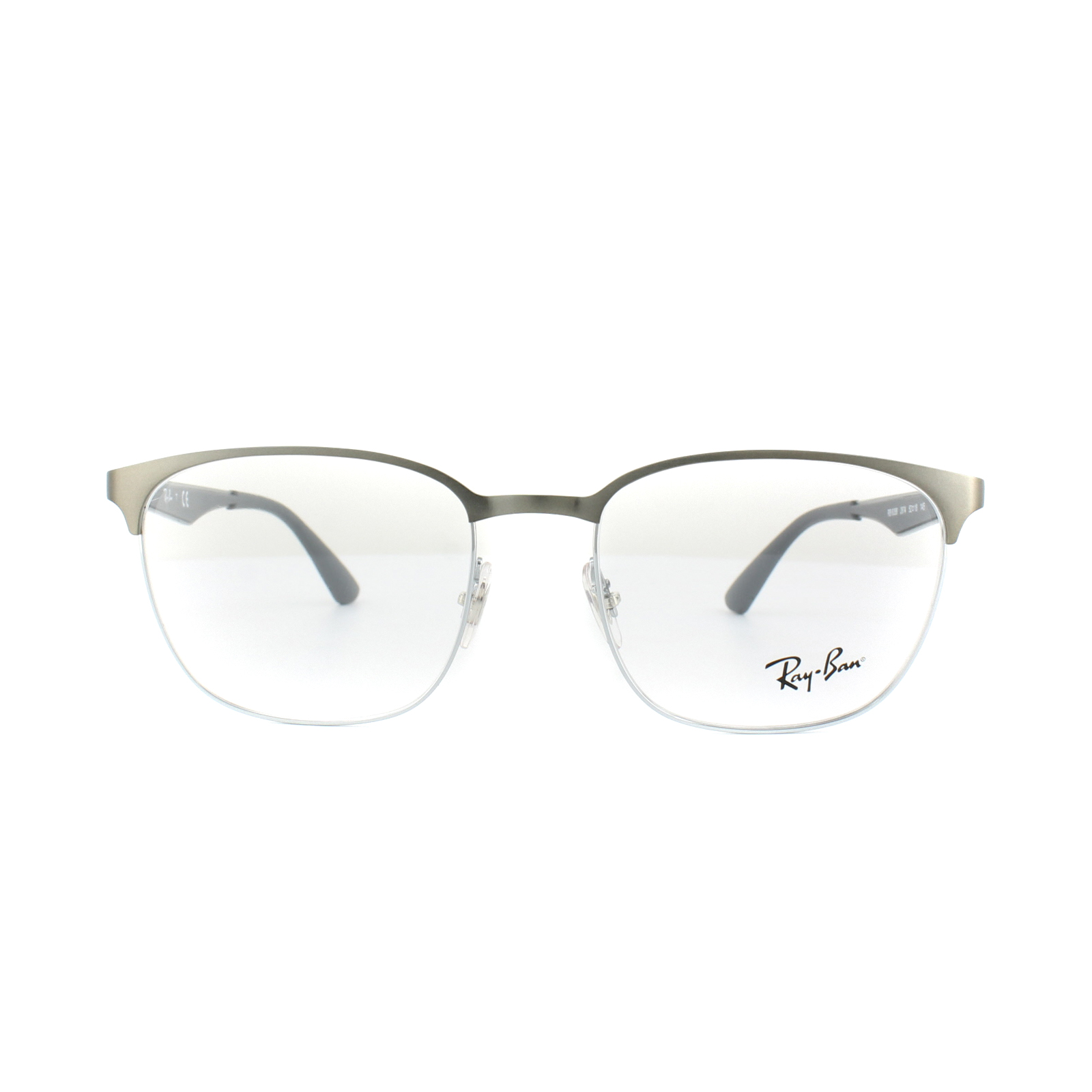 a37c3dbb94d Sentinel Ray-Ban Glasses Frames RX 6356 2874 Top Brushed Gunmetal On Silver  Mens Womens ...