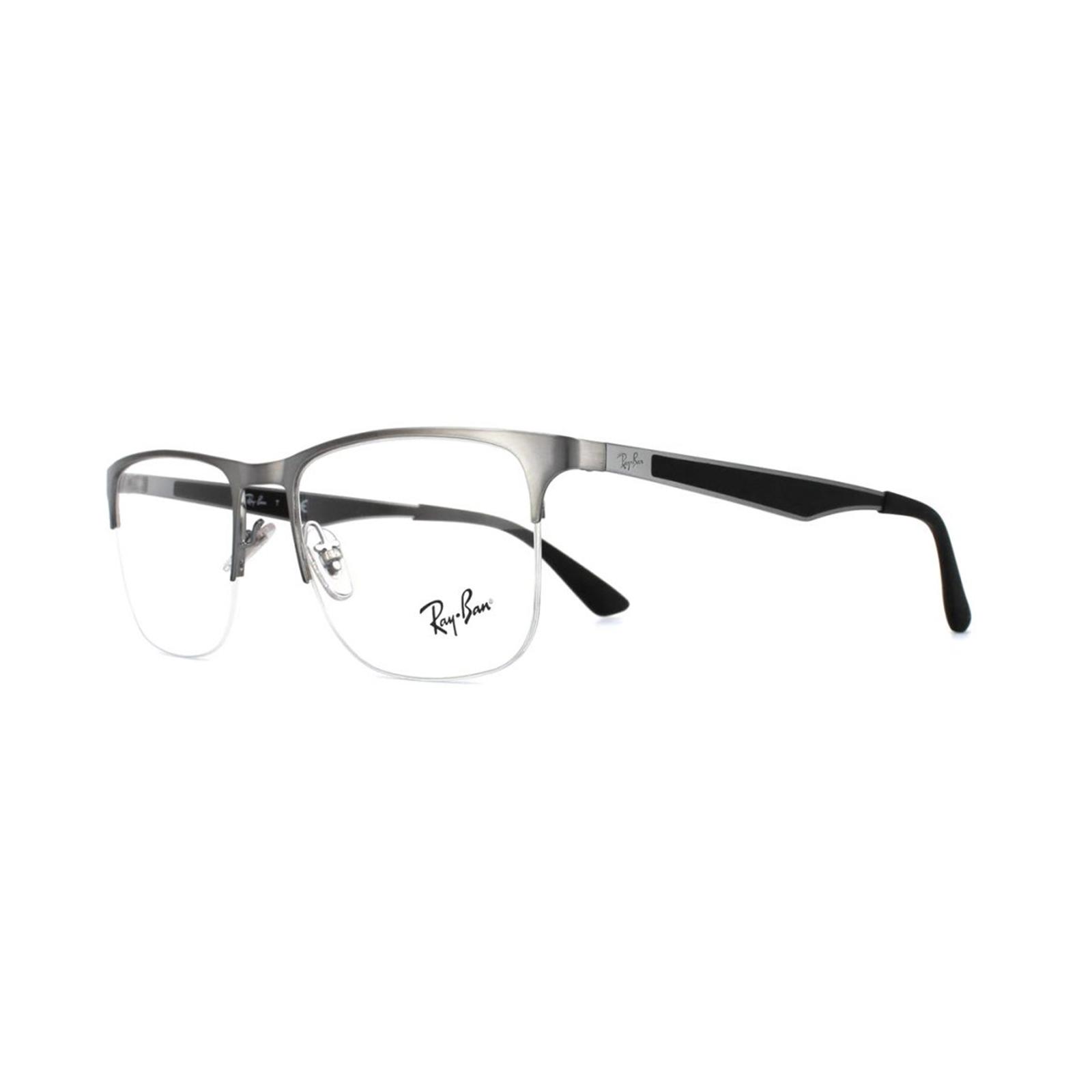 Ray-Ban Glasses Frames RX 6362 2502 Shiny Gunmetal Mens 53mm ...