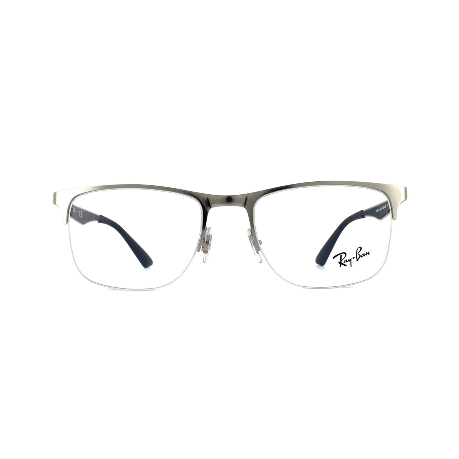 d422cdecee7 Sentinel Ray-Ban Glasses Frames RX 6362 2595 Shiny Silver Blue Mens 53mm