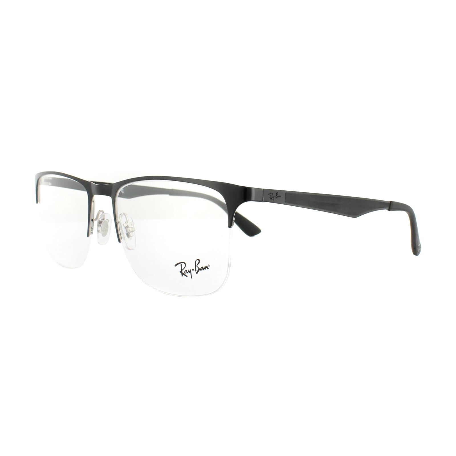 a0cccbc4826 Sentinel Ray-Ban Glasses Frames RX 6362 2861 Silver Top Shiny Black Mens  55mm