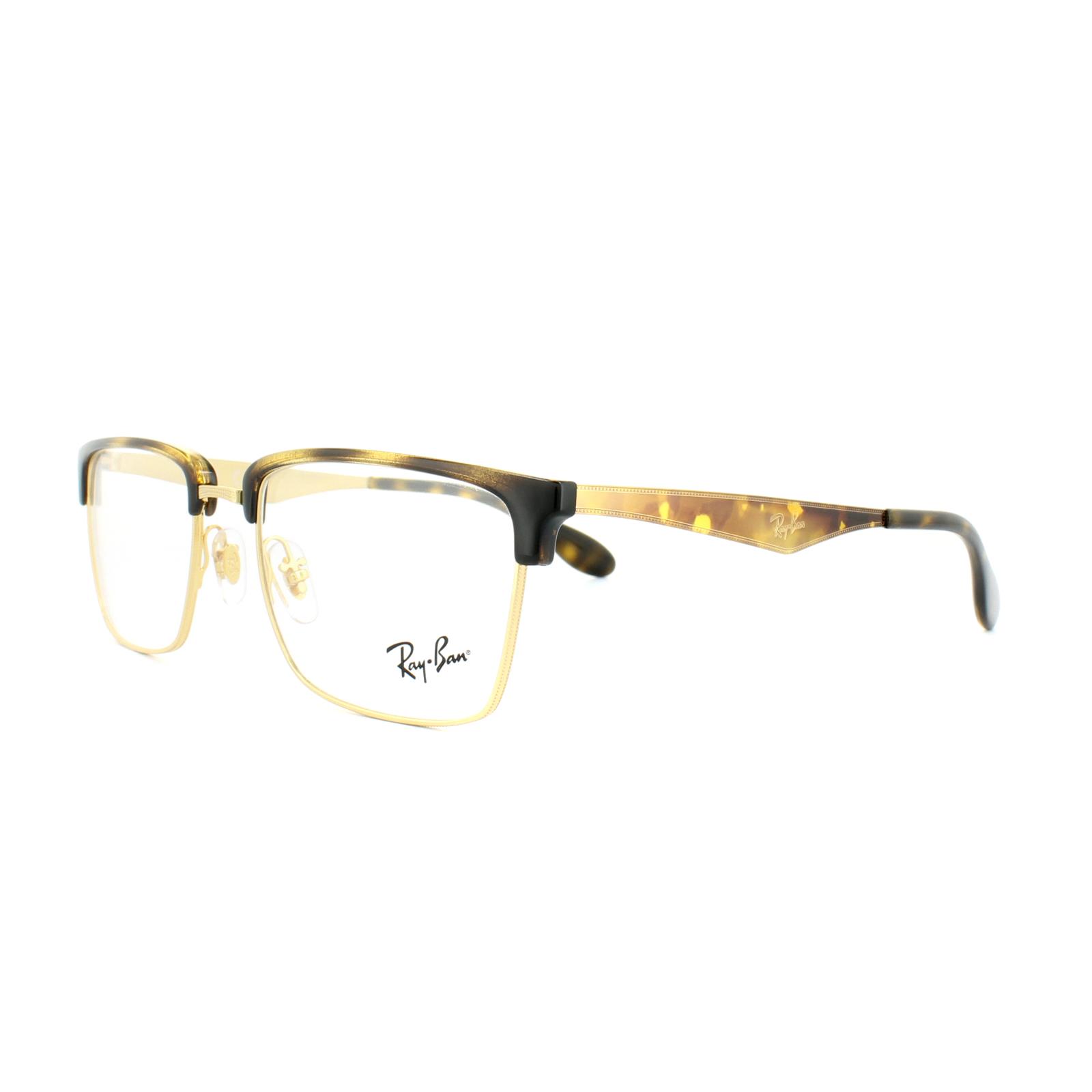8d8fb9a80b4 Sentinel Ray-Ban Glasses Frames RX 6397 2933 Gold Havana Mens Womens 52mm