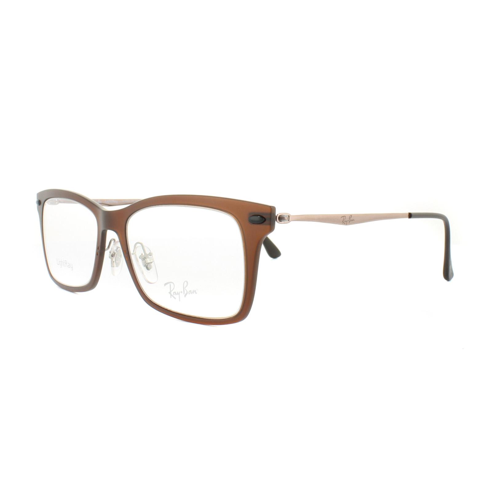 95a4d3278c Sentinel Ray-Ban Glasses Frames RX 7039 2077 Matt Black Mens Womens 53mm