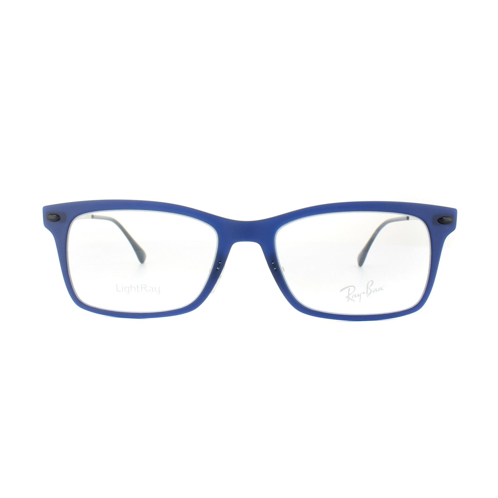 3c82bf36904 Sentinel Ray-Ban Glasses Frames RX 7039 5451 Dark Matt Blue Mens Womens 53mm