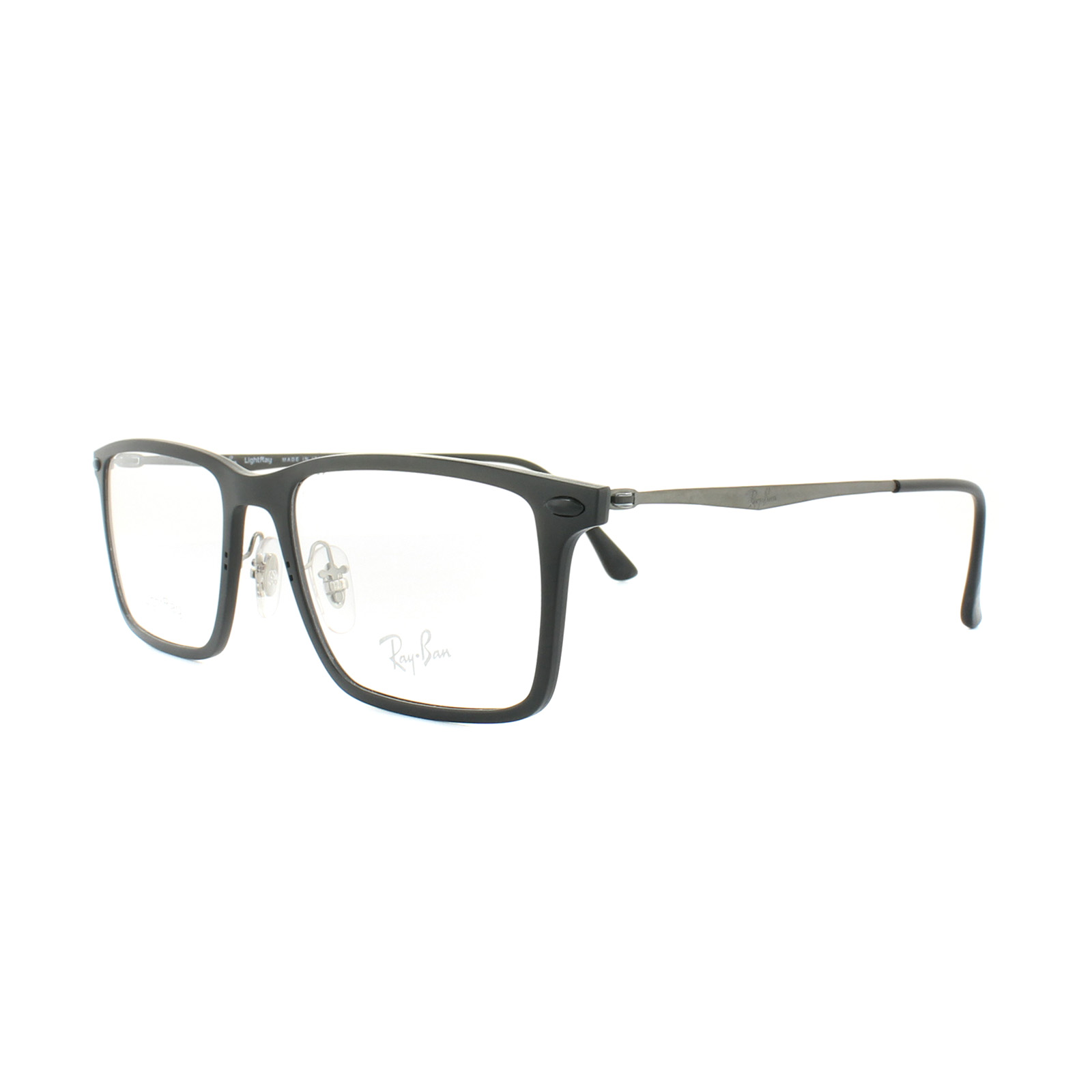 f59b87a47601 ... usa sentinel ray ban glasses frames rx 7050 2077 matt black mens 52mm  455a6 b4899