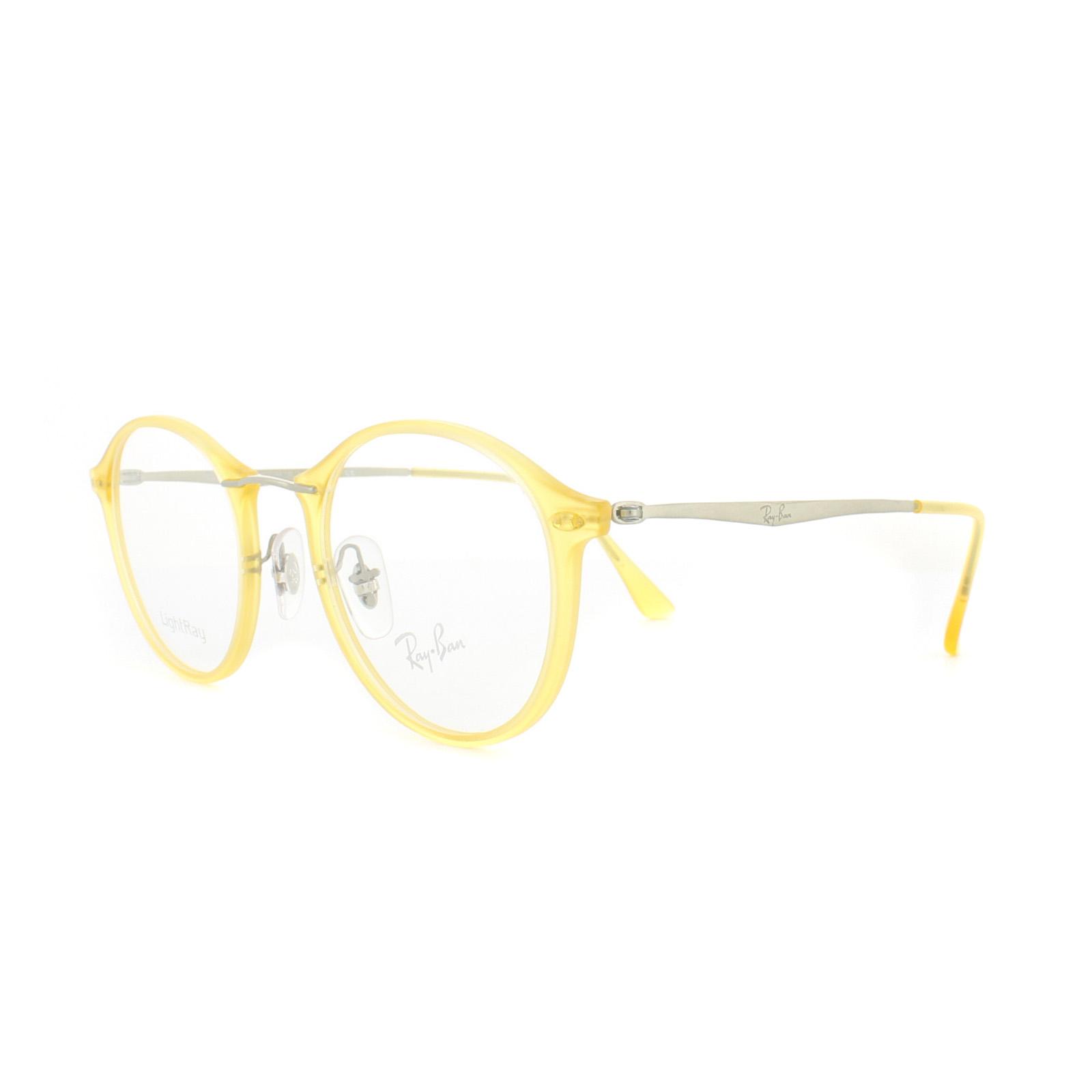 8f7391a31d36fe Sentinel Ray-Ban Glasses Frames RX 7073 5589 Matt Crystal Yellow Mens  Womens 47mm
