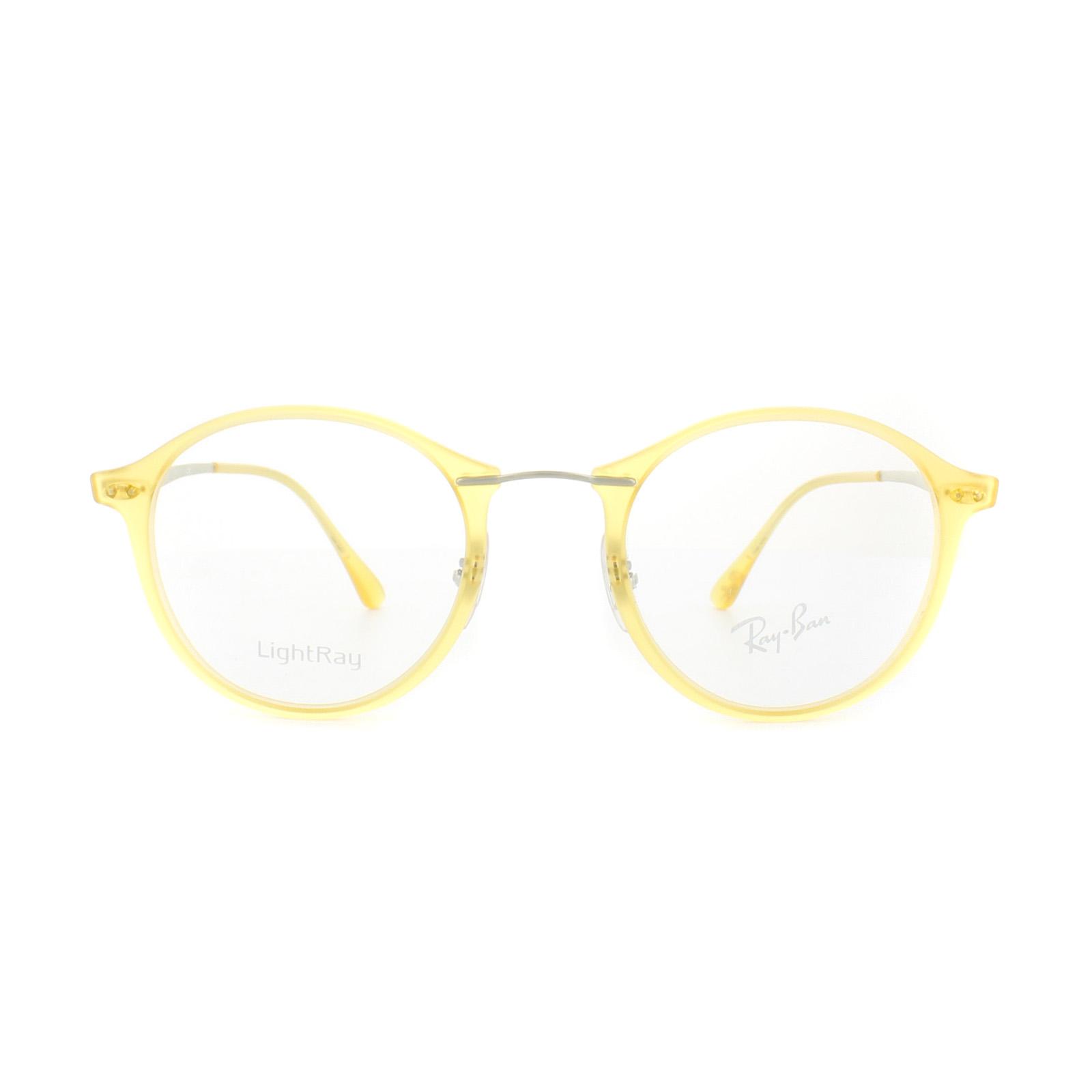 eceb4421ecf Sentinel Ray-Ban Glasses Frames RX 7073 5589 Matt Crystal Yellow Mens Womens  47mm