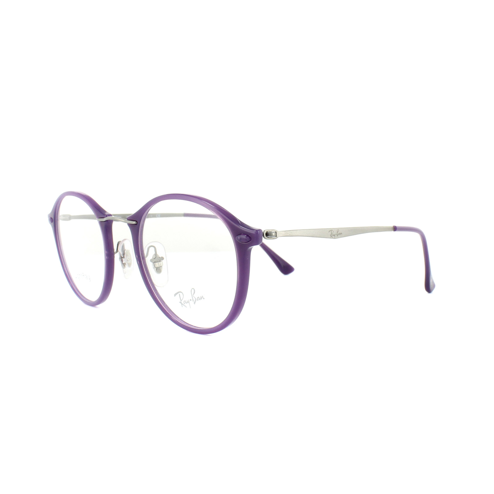f110d91a9d ... reduced sentinel ray ban glasses frames rx 7073 5617 shiny violet mens  womens 47mm d3f1e fc9ae