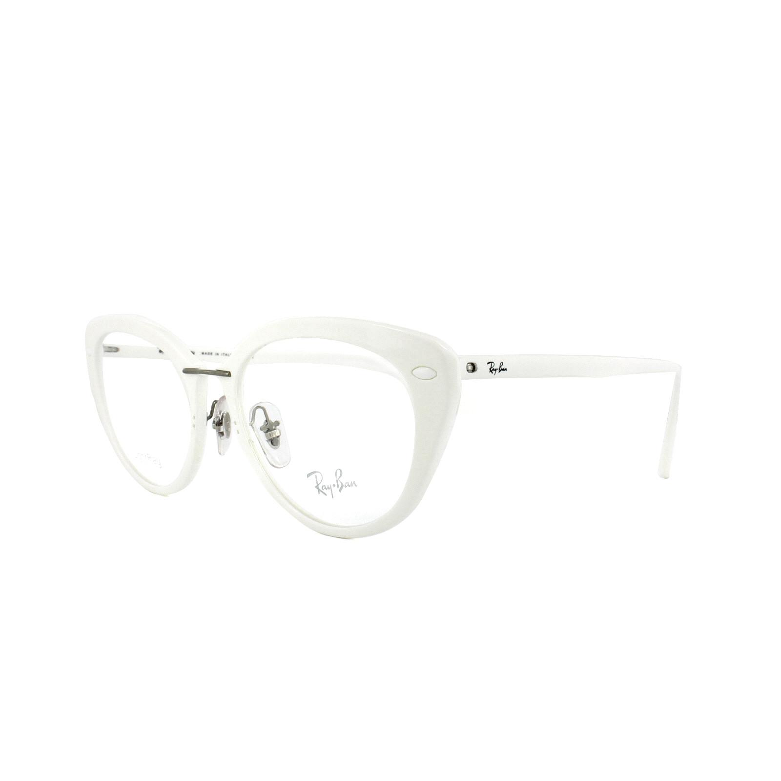 025a75e381 Sentinel Ray-Ban Glasses Frames RX 7088 5618 Shiny White Womens 54mm