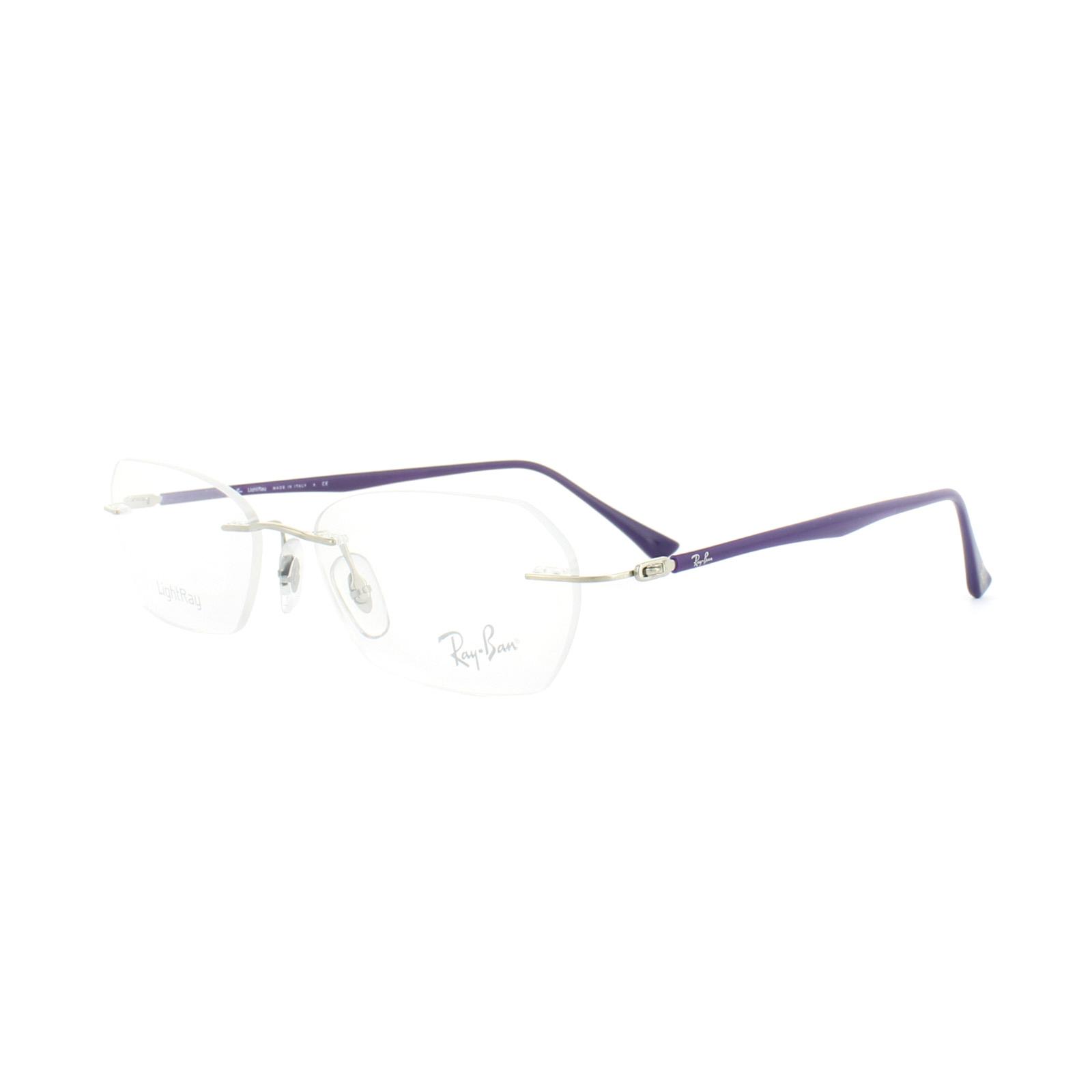 bc865af084 Sentinel Ray-Ban Glasses Frames RX 8703 1002 Silver Purple Mens 50mm