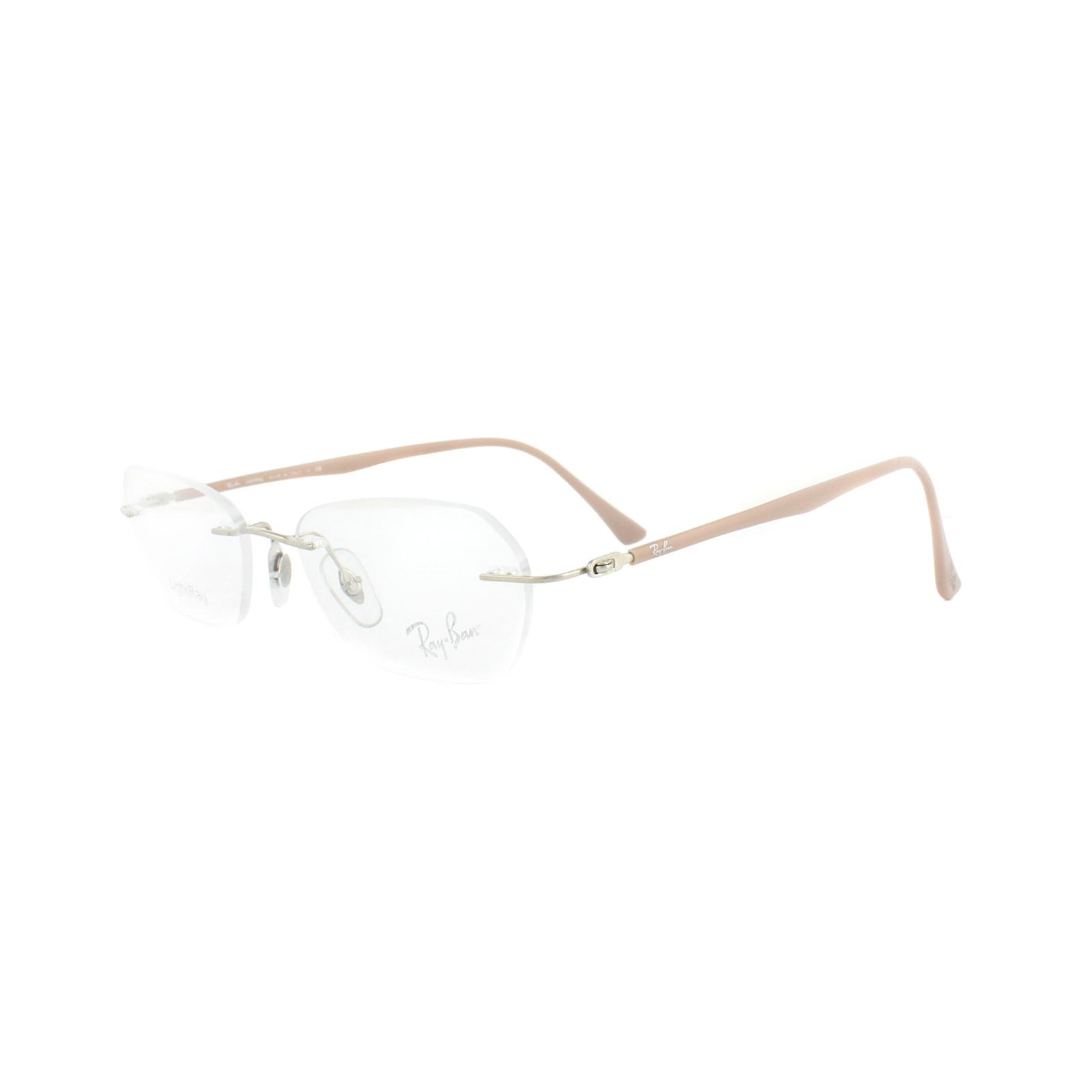 b01463eeea Sentinel Ray-Ban Glasses Frames RX 8703 1145 Silver Beige Mens 50mm