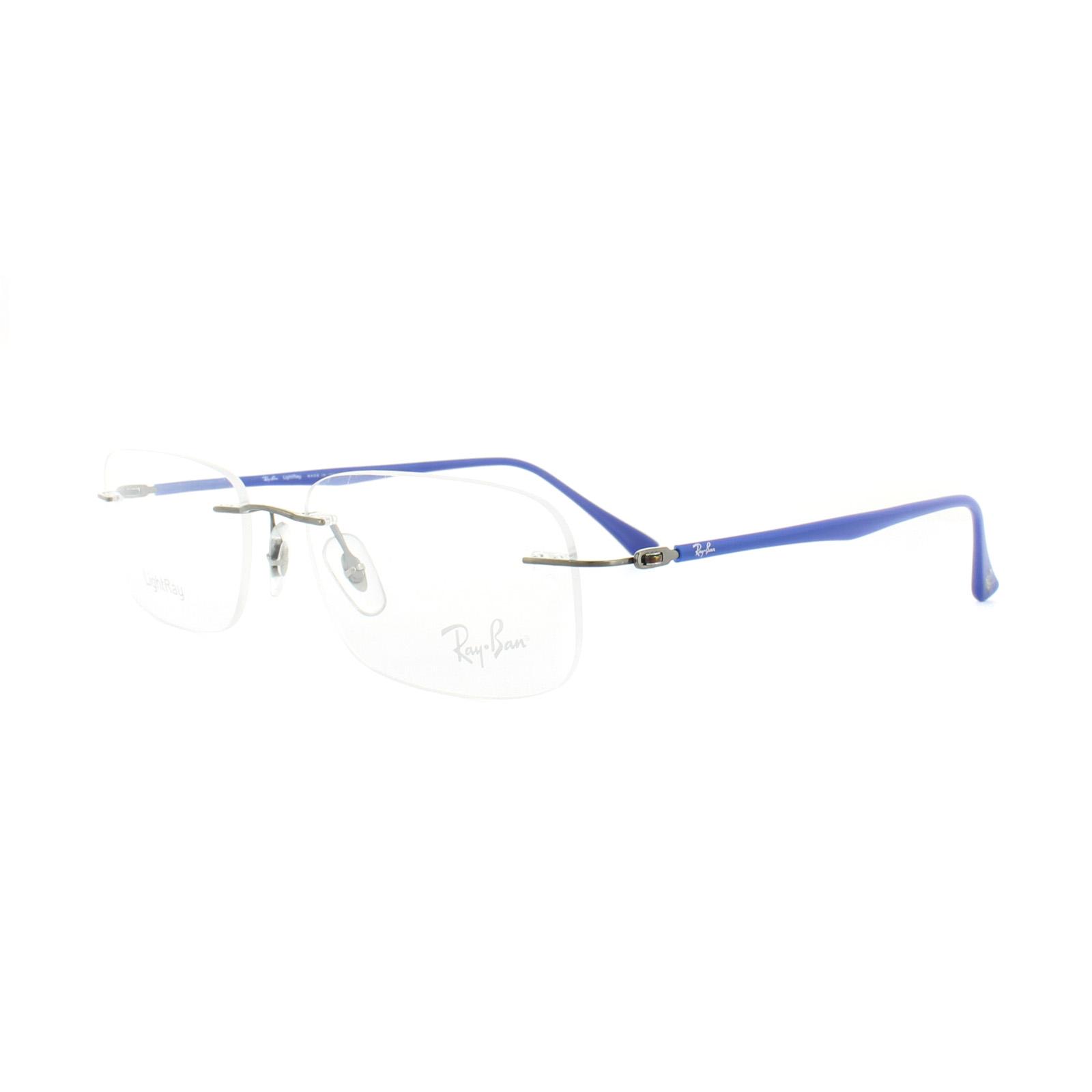 Ray-Ban Glasses Frames RX 8704 1162 Gunmetal Blue Mens 54mm   eBay