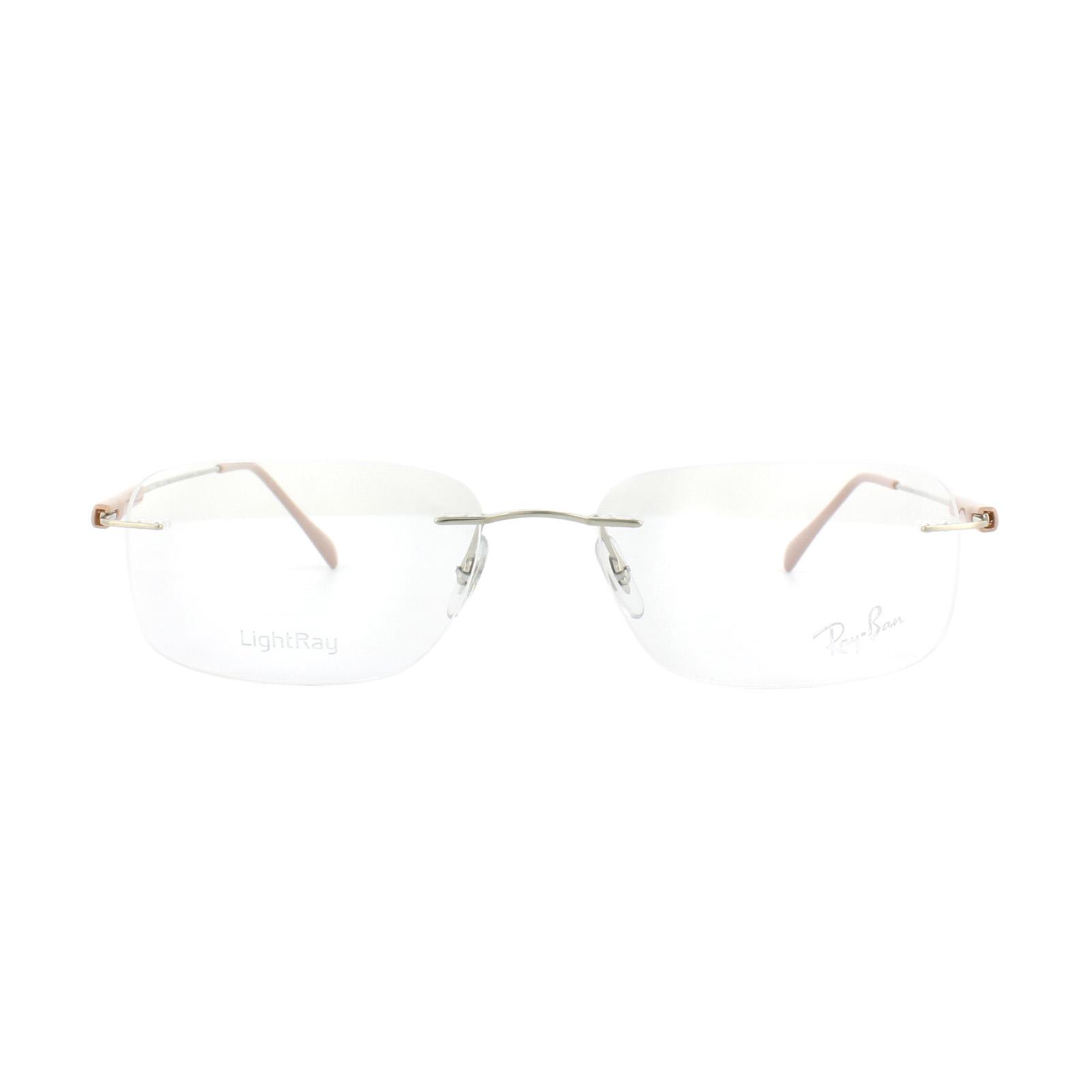926fb19ca5c Sentinel Ray-Ban Glasses Frames RX 8712 1145 Silver Nude Mens 55mm