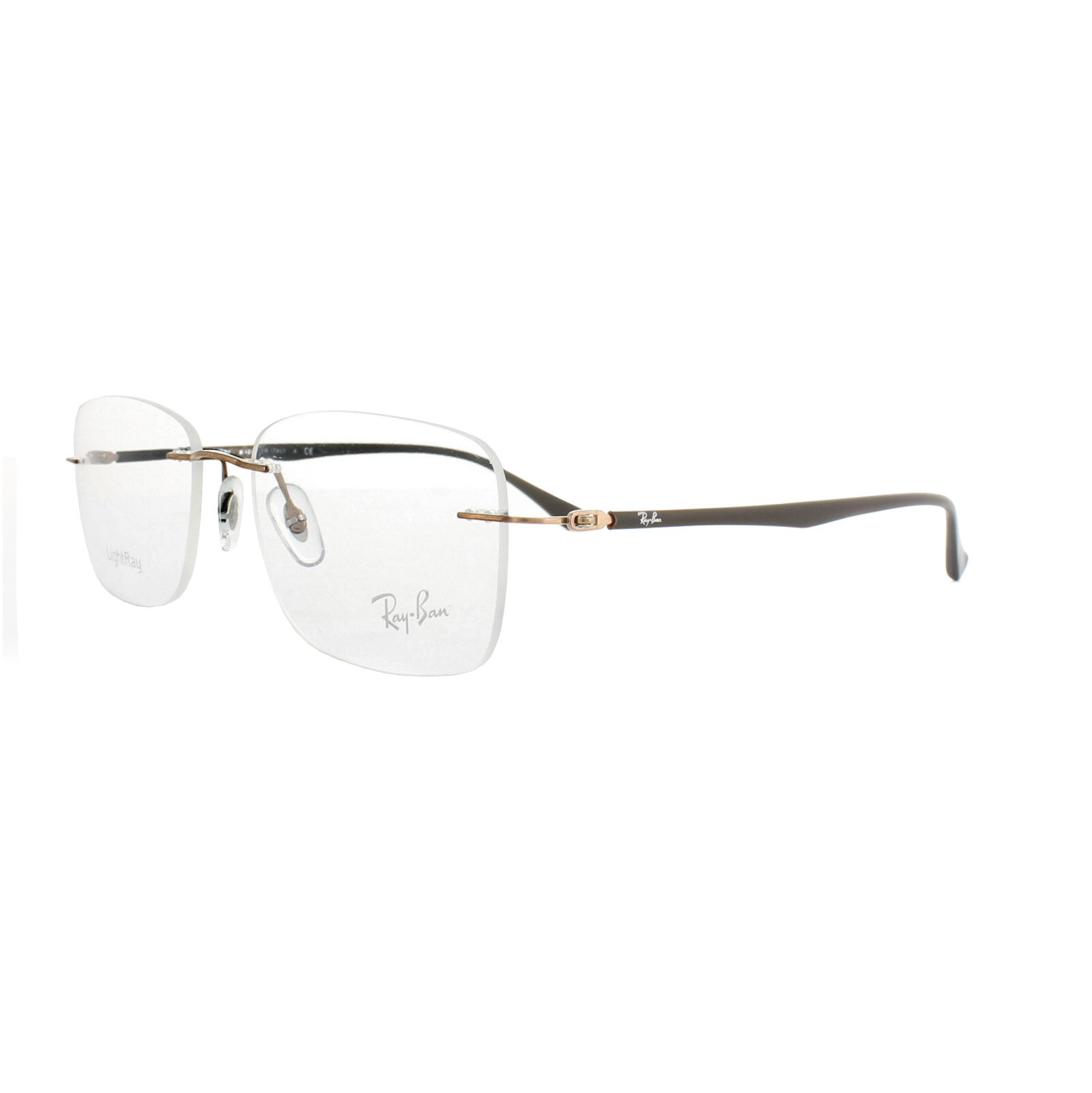 Ray-Ban Glasses Frames RX 8725 1131 Brown Mens 52mm 8053672234640   eBay