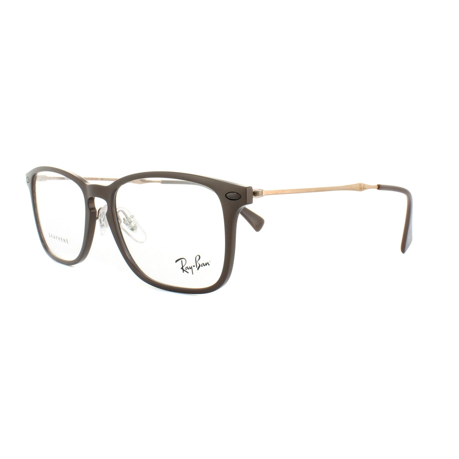 cd2ebc259a Sentinel Ray-Ban Glasses Frames RX 8953 8028 Brown Graphene Mens Womens 54mm